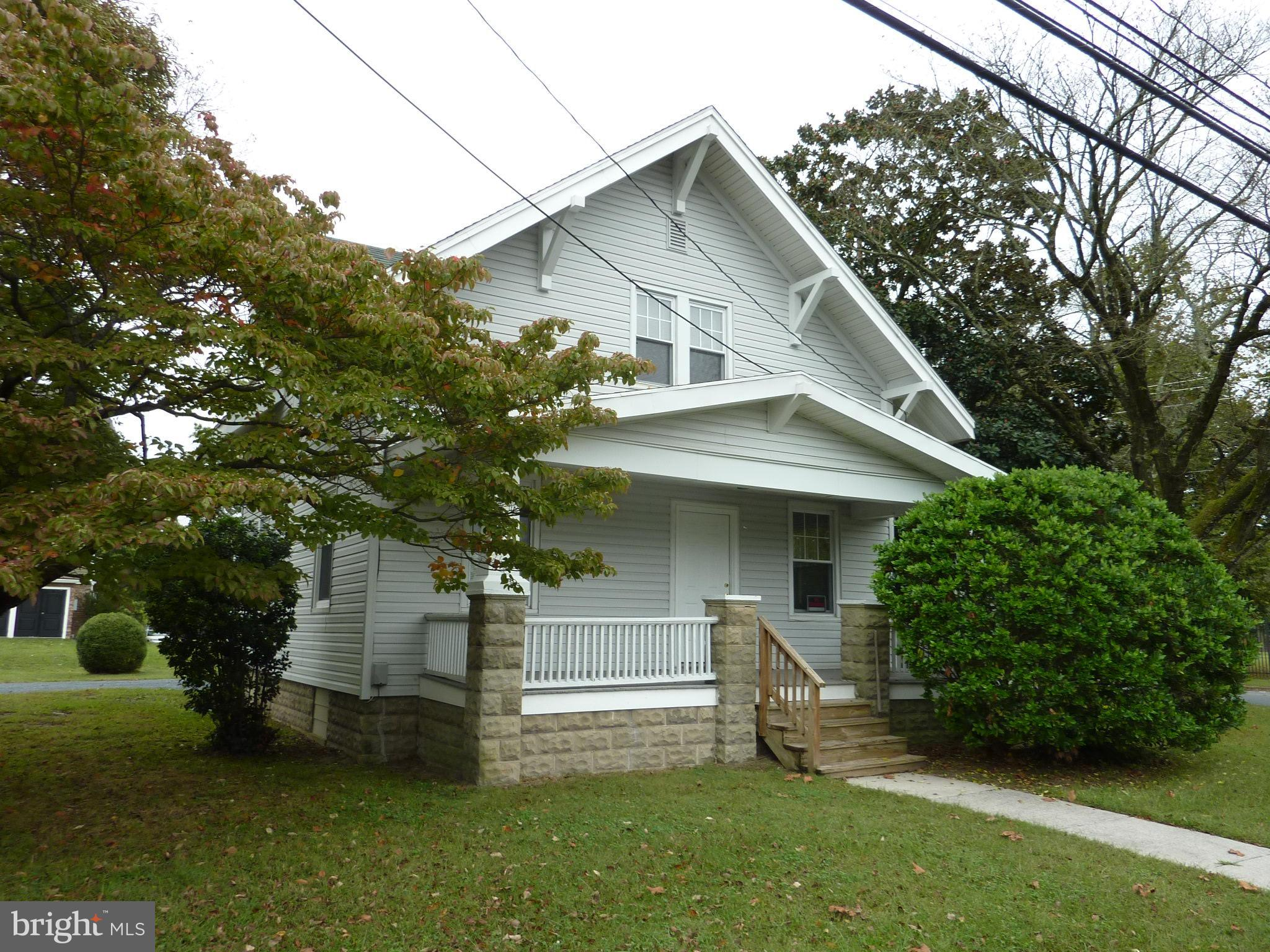 Remodeled Craftman style home with lots of character.  The downstairs has 9 foot high ceiling in the
