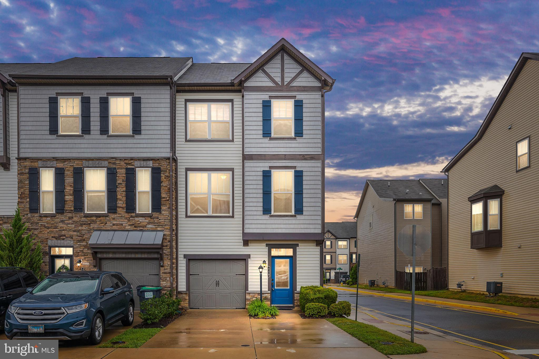 Like new end-unit townhome in sought after Colonial Forge! Three beautifully finished levels to spread out on. Carpet is NEW throughout entire house. Main level features large option kitchen with separate dining area and stainless steel appliances. Enjoy all the natural light the morning room off the kitchen has to offer with access to the wraparound deck. Massive living room with elongated windows, wood feature wall, and a half bathroom finish off the level. Upstairs you'll find the large master suite with private sitting area, en suite bathroom, and large walk-in closet. Two nicely sized additional bedrooms and another full bathroom finish the top level. On the lower level you'll see the finished recreation room and bump out, perfect for a home gym, man cave, or office space. Another half bathroom and laundry are also on this level and the washer and dryer convey! Walkout access to the fully fenced backyard with gate to parking spaces behind the home. Colonial Forge has many amenities to offer to include the community pool, clubhouse, playground, walking trails and more! Zoned and within walking distance to Colonial Forge High School. Easy access to commuting options, restaurants and shopping to include the brand new Publix!