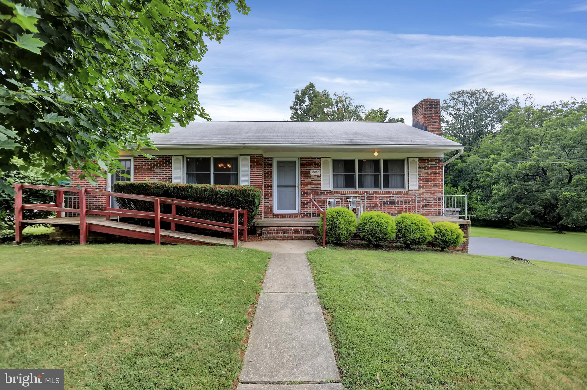 Solid brick ranch home in  Harford County. 3 bedrooms and 3 baths on a beautiful landscaped semi pri