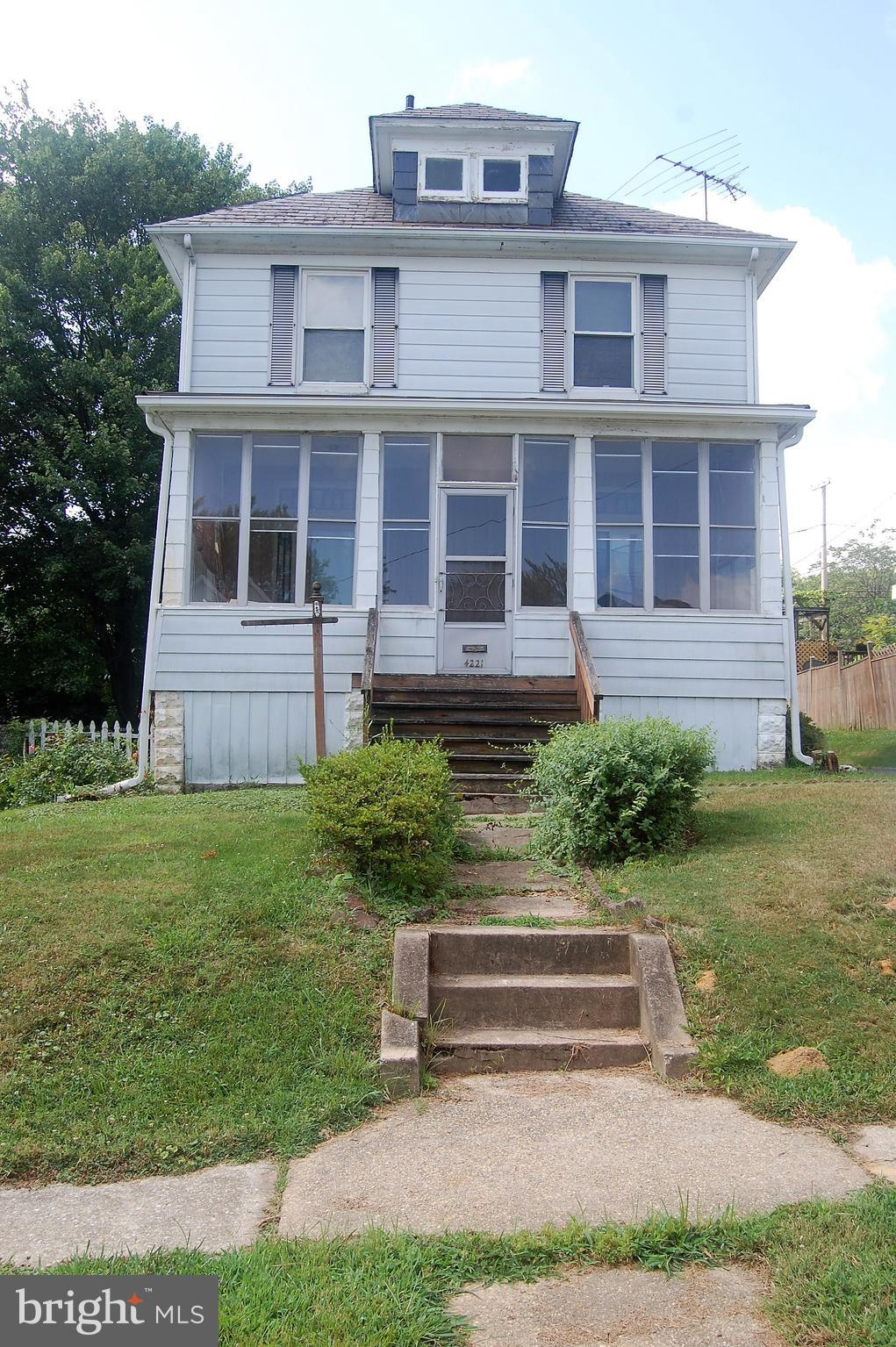Single family home SOLD AS IS . Features 3 levels.  Partially finished basement with extra possible