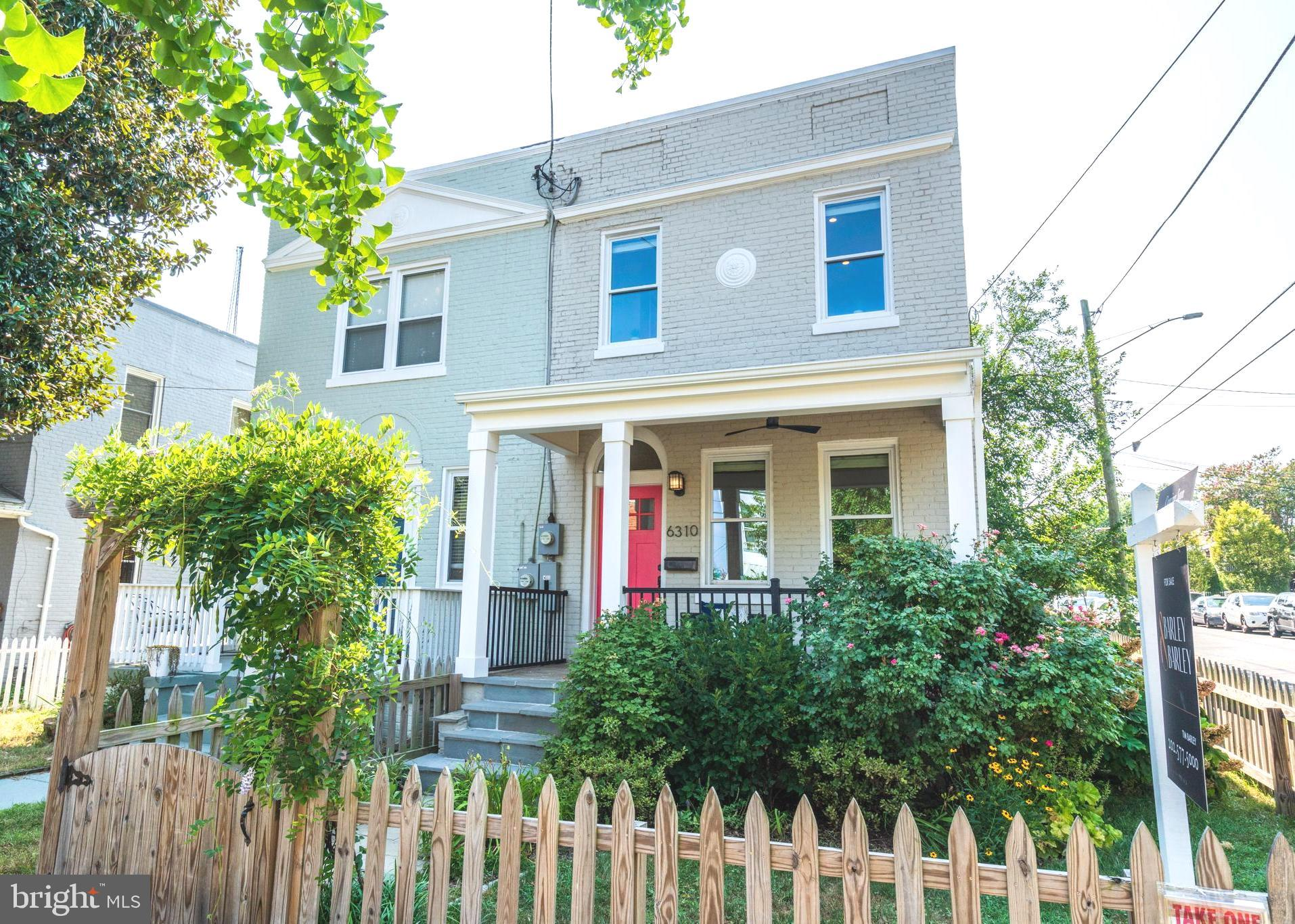 Explore this semi-detached colonial on a serene Brightwood block. Discover hardwood floors, light-fi