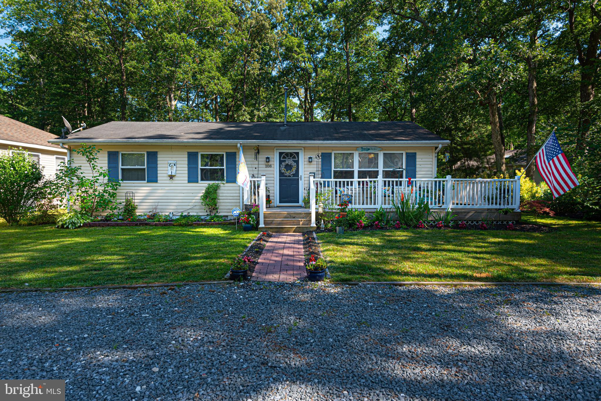 New on the market! Perfect for year round living or an investment rental, this home sits on an open lot. 2 bed 2 bath with office/ den/ bedroom 3 and large sunroom that opens up to a beautiful yard with gardens and 2 patios, plus a storage shed. Only 4 miles to the beach, inside North Gate of Ocean Pines. Great community, quiet street. This home comes with many updates: new roof, newer floors, paint, appliances, new hot water heater, new washer and dryer. Taking offers! Don't let this one get away!  Upgrades, replacements and year work was done: 1. Floors, carpet, paint   2014 2. Kitchen appliances : oven, microwave, back-splash   2014 3. Refrigerator   2016 4. Garbage disposal    2018 5. Hot water heater     2018 Natural Gas 6. Replacement on fans and upgrade on heat/air unit    2019 7. Washing machine     2020 8. Dryer   2021 9. Replaced and upgraded both bathroom sinks/vanities     2019 10.Sump pump was replaced in 2021 11. New Roof 8/24/2021