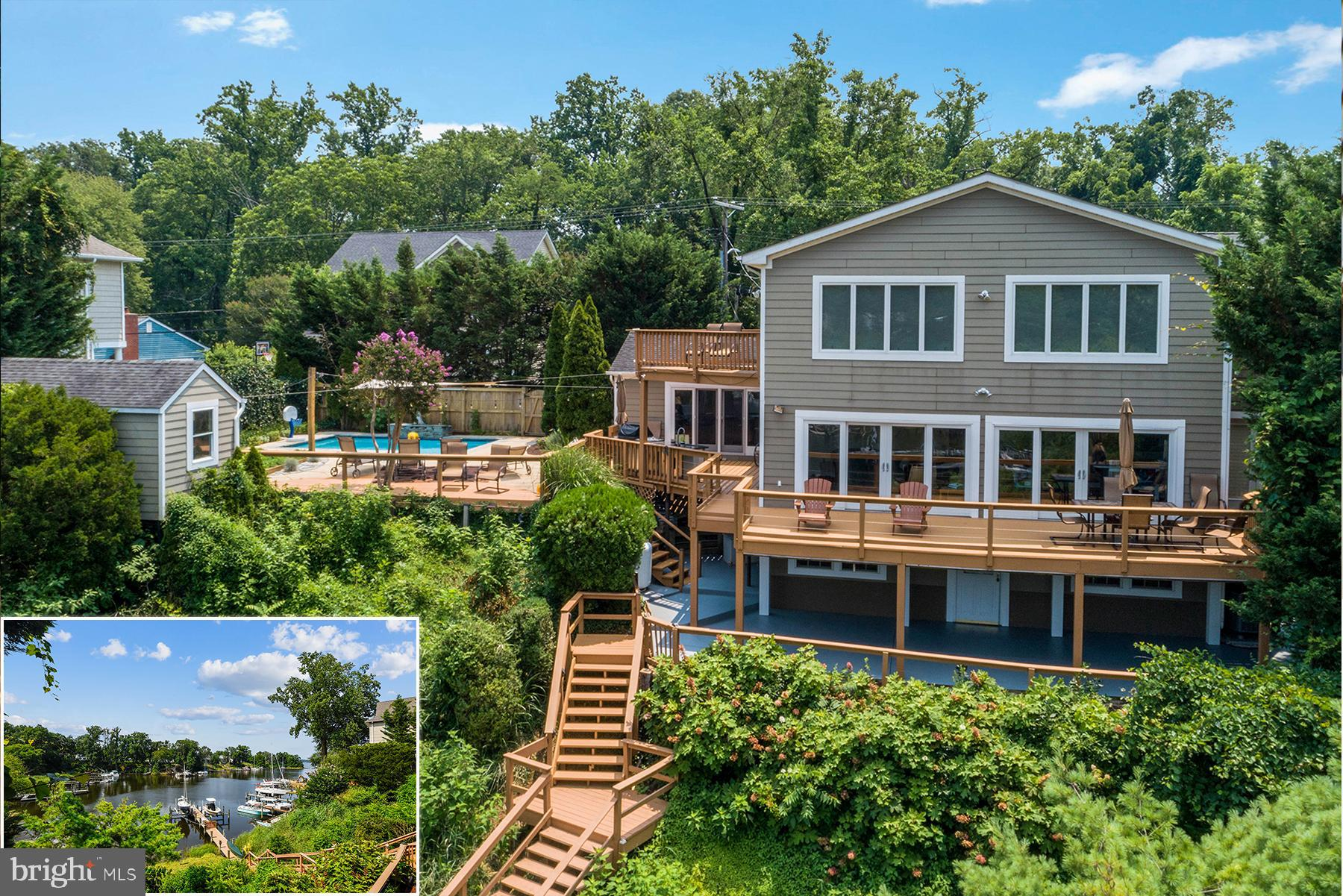382 Alameda Parkway is a stunning waterfront home with private deep-water pier and a saltwater pool.