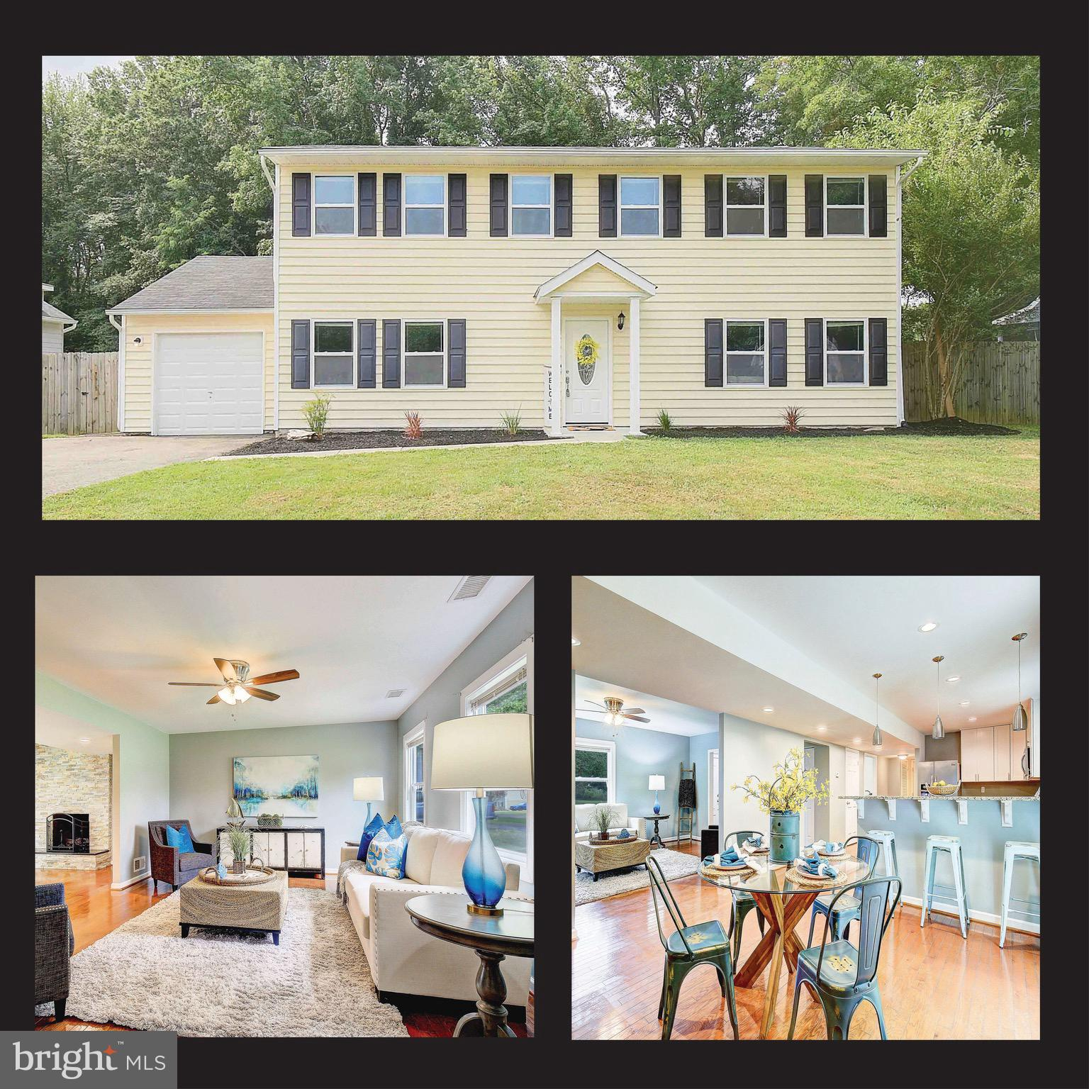 This beautiful 4 bedroom, 2.5 bath Stevensville house with 1 car garage and fenced yard has been spr