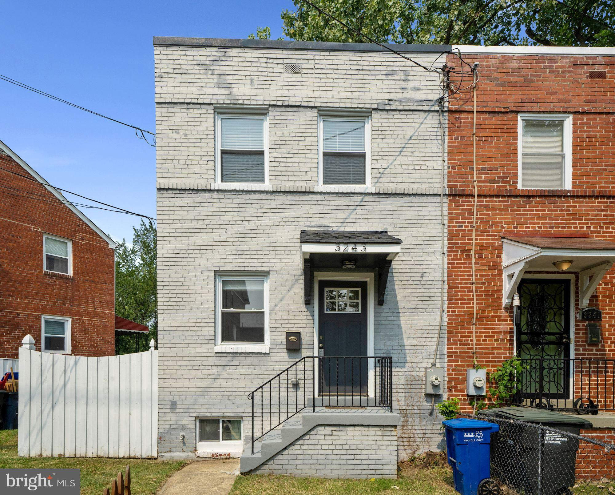 Welcome Home! This 2 bedroom, 2 full bath, 3 level semi-detached home features two floors of its ori