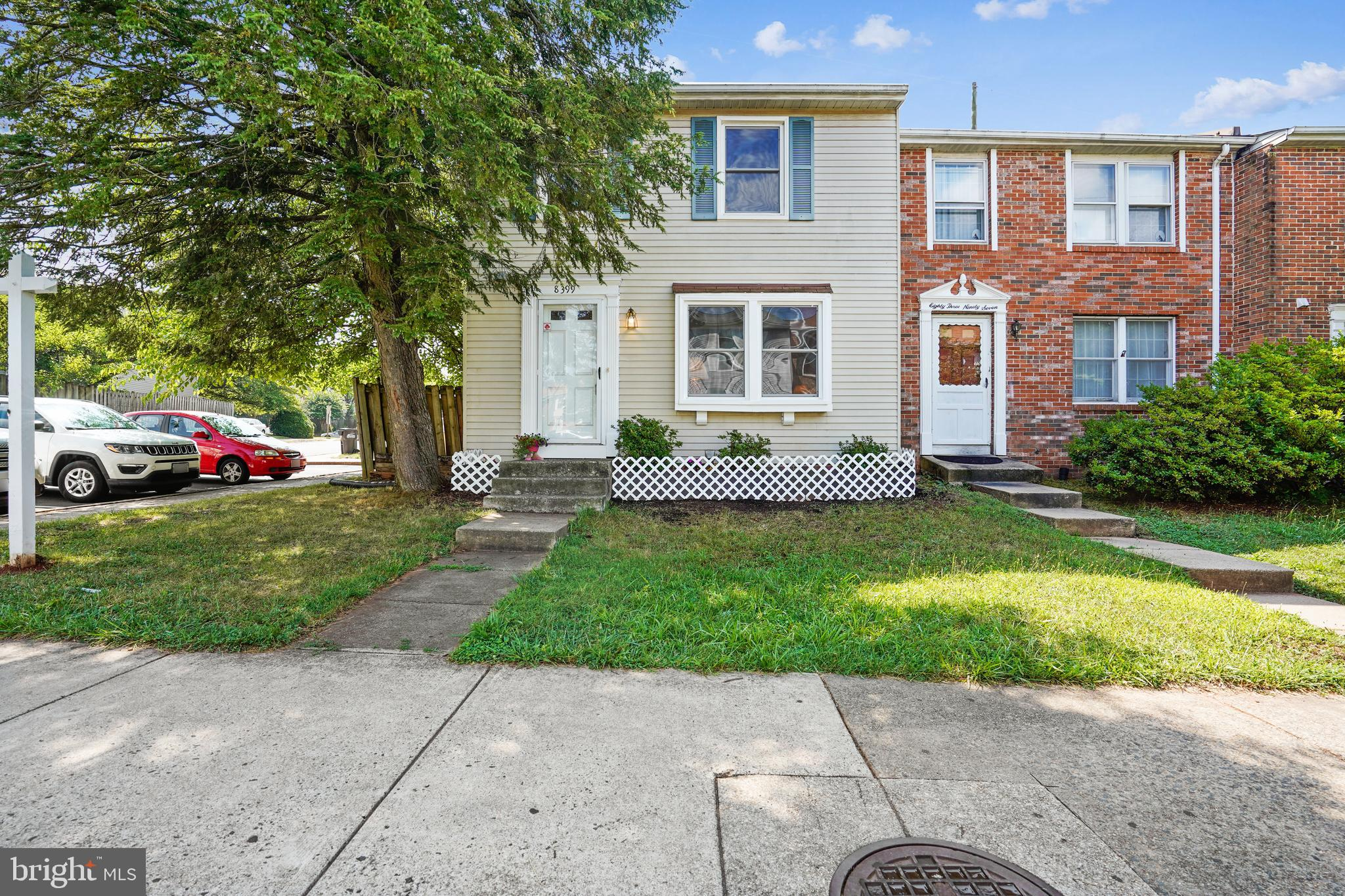 Opportunity to own an end unit town home that has been updated to include : Updated Kitchen with Granite counters, Stainless  Appliances . Hardwoods on the main level Separate Dining Area Hot Water Heater 2013 HVAC 2002 Thermopane Windows in 2010. Full bath in lower level updated