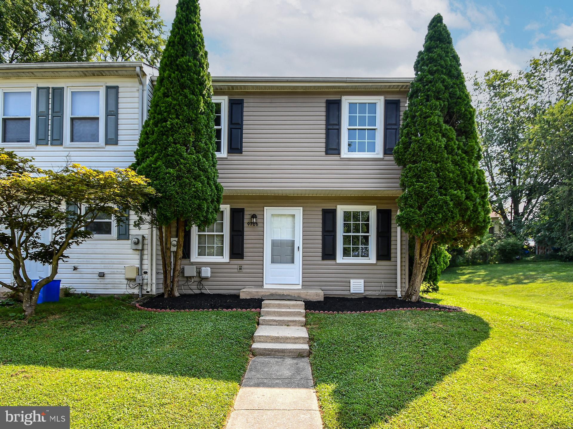 END UNIT! sun-filled townhome,  3 bedrooms with one full and two half baths,  freshly painted throug