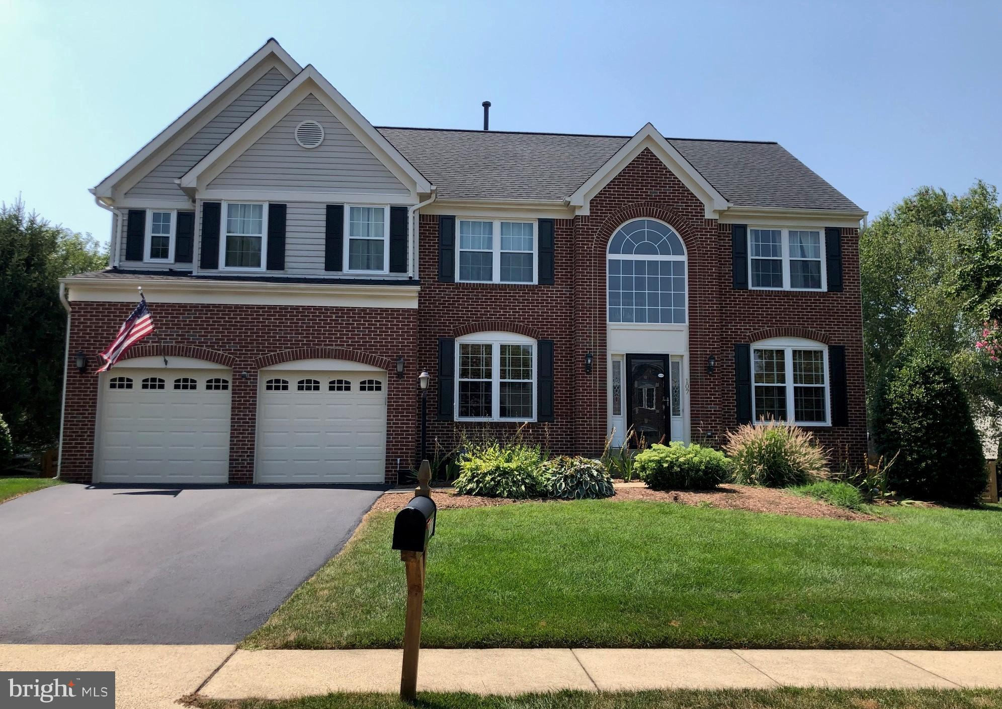 Best Buy in sought after community of Greenway Farm! This beautiful brick-front home features over 3