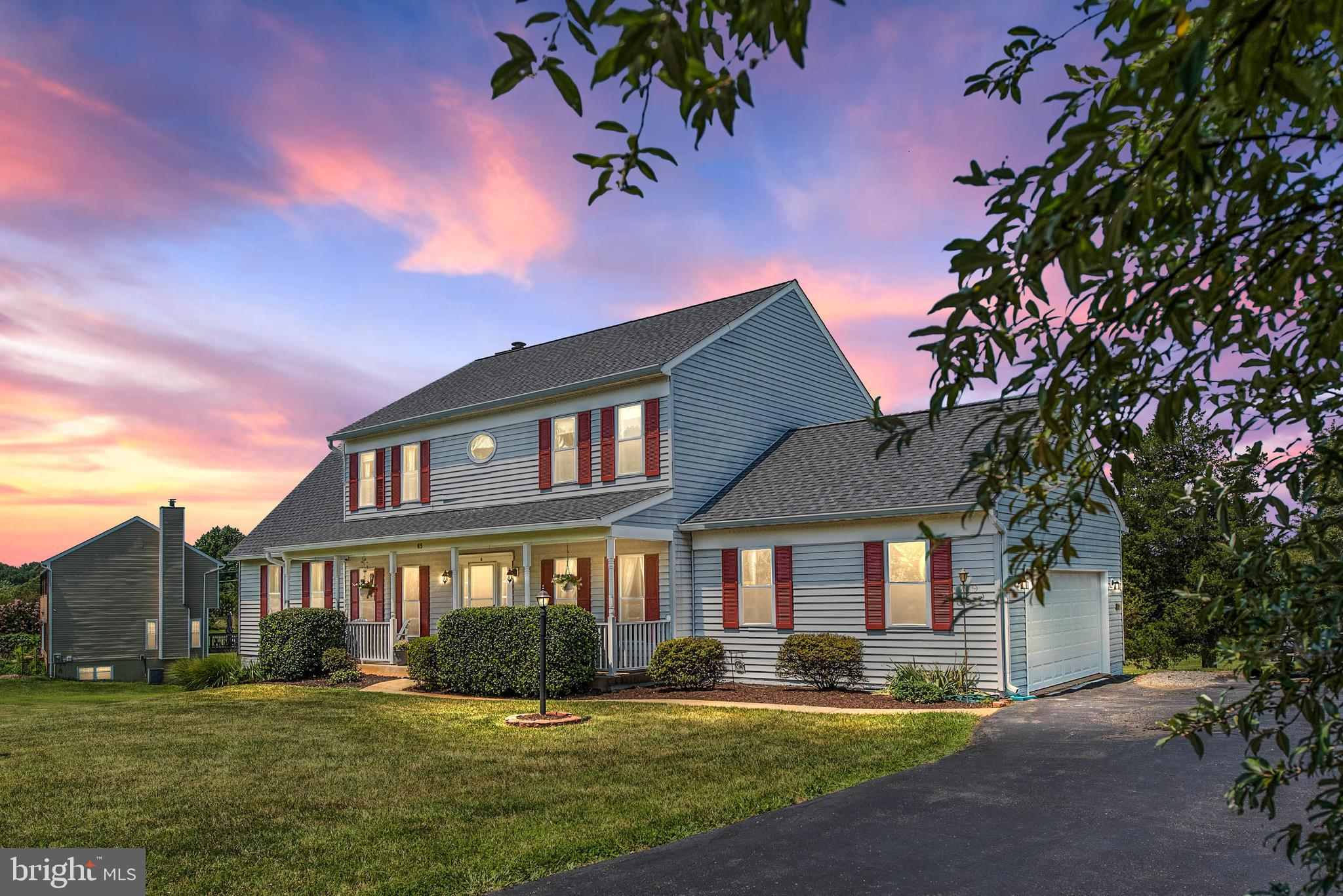 Back on the market at no-fault of the seller.  Don't miss your second chance! This one-owner Colonial with Two-Story Addition, Walk-out Basement, and 3+ Acres, will Provide you Lots of Room (4160 total sqft) with NO HOA.  Enjoy the Sunsets from the Rear Deck (500+ sqft) or while Relaxing in one of the Jetted Seats in the large In-Ground Pool (16'x32' w-walk-in stairs).  The Pool and Garden Sheds both have Water and Electricity Connections and the Pool Shed is pre-wired for a External Home-Generator.  The Master Suite includes Walk-In Closet and a Remodeled Master Bath (2016) w-Large Tub and a Separate Shower.  3 additional Large Bedrooms and Remodeled Hall Bathroom (2014) on Second Floor.  (Master and 1 of the bedrooms have a secondary access for possible nursery or sitting room.)  Formal Living Room and Dining Room featuring Hardwood Floors, & Crown Molding.  Large eat-in Kitchen.  Two-Story Addition includes a Large Entertainment Room (500 sqft) with a Pool Table and Bar on the Main-Level and Large Basement Workshop or Office w-private entrance (500 sqft) which was approved by county for use for a home business.  The Walk-Out Basement also Boasts a 3rd Full-Bath, Home Office, Storage, and Laundry.  Propane tank is owned.  Whole-home Rain Soft Brand Water Softening system.  New HVAC (2021), New Garage Door/Opener (2020), New Carpet (2019), and New Roof (2017).  Freshly painted exterior and main floor (2021). Mowing Service will be provided through October.