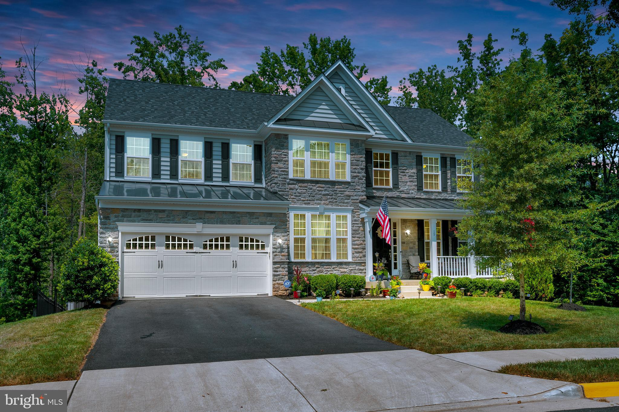 Immaculate home located at the end of a cul de sac. This open floor plan colonial has all the space you need. Main floor has two story foyer, office, dual staircase, formal living and  dining room. Gourmet kitchen with large island, double oven, granite counters, stain steel appliances and an abundance of cabinets. Bright morning room off the kitchen with tons of natural light. Master bedroom retreat with sitting area, large walk in closet. Master bath has his and her sinks. Upgraded tile, soaking tub and shower with seat. Finished basement with large rec room,  bedroom and full bath. Space for another legal bedroom and lots of storage.Maintenance free deck to leads to patio for entertaining with a fire pit. Lot backs to trees and located on a private cul de sac.