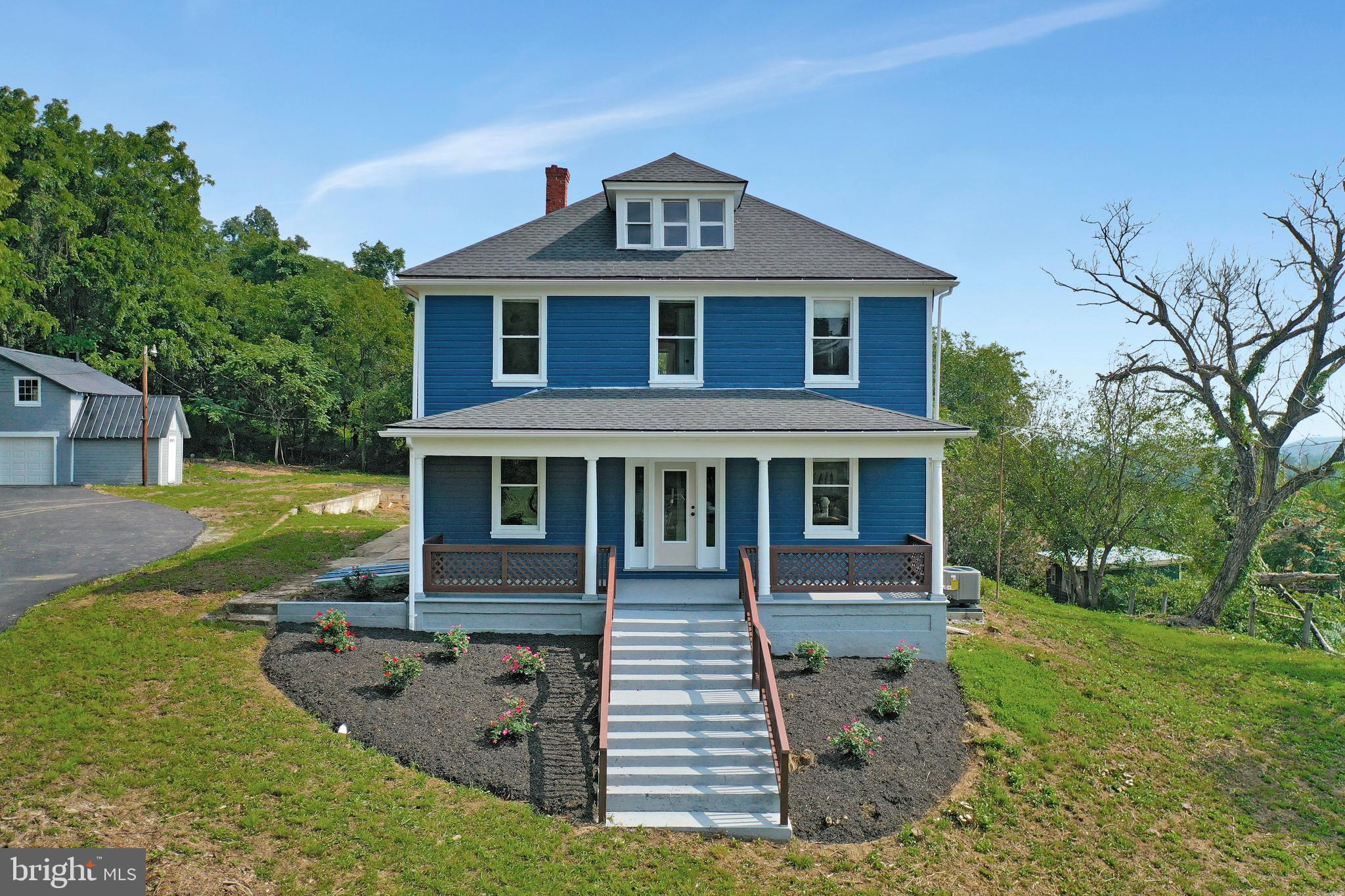 Newly Renovated Colonial style home situated on 5 acres (No HOA) with some of it's original feel, ye