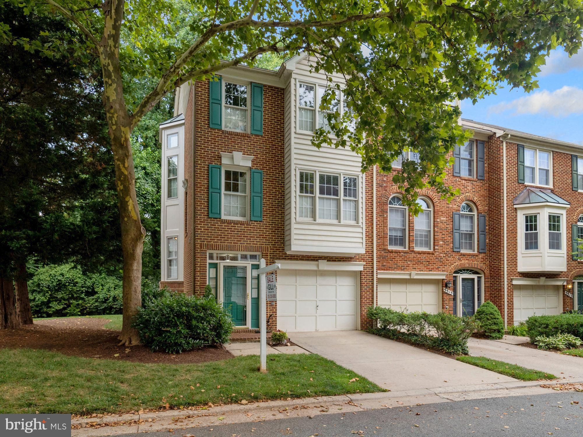 Welcome to 5517 Whitley Park Terrace.  This spacious end-unit townhouse is in absolutely immaculate