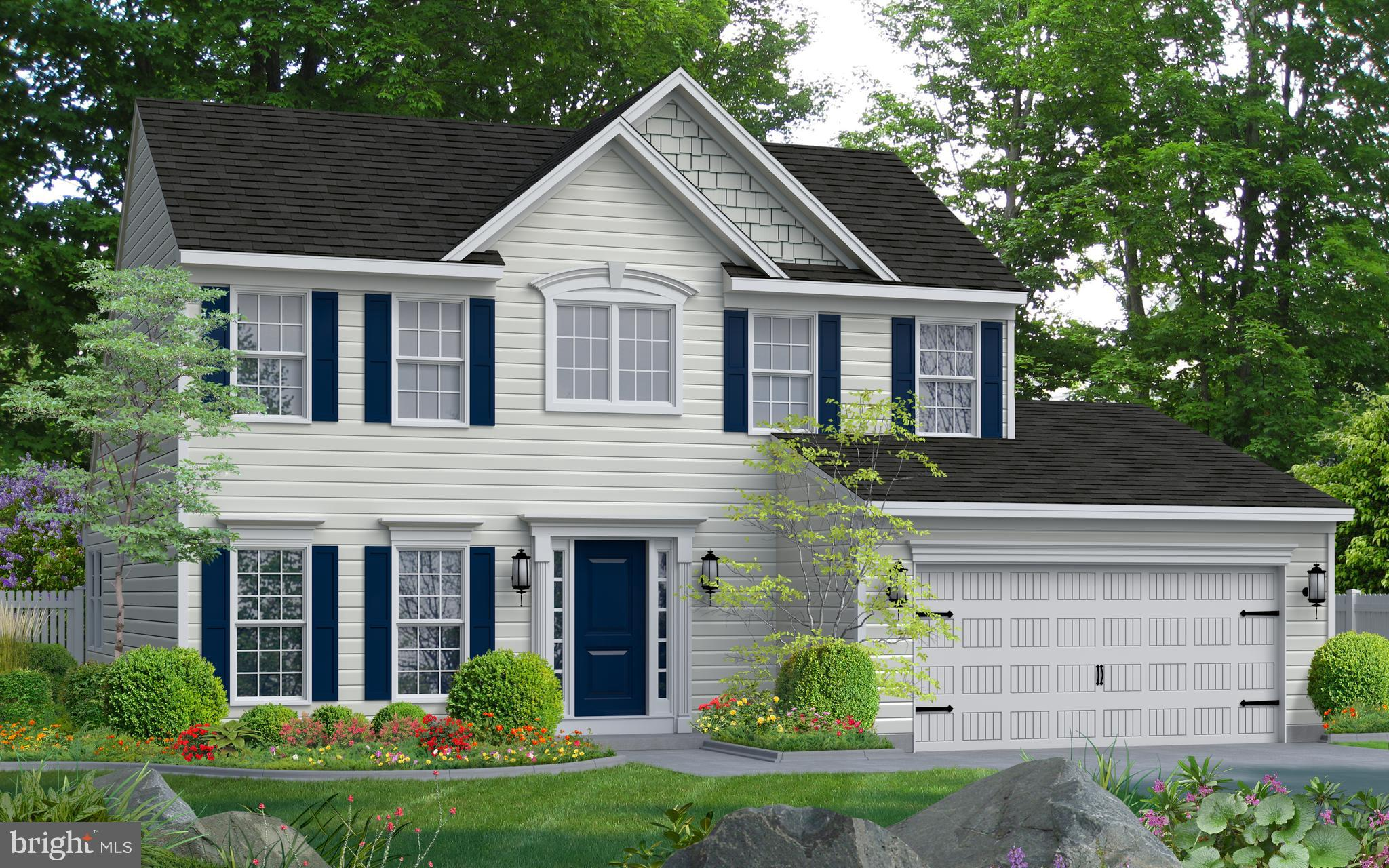 Frankford Model offered by Gemcraft Homes. A unique twist on a traditional design that includes 3 be