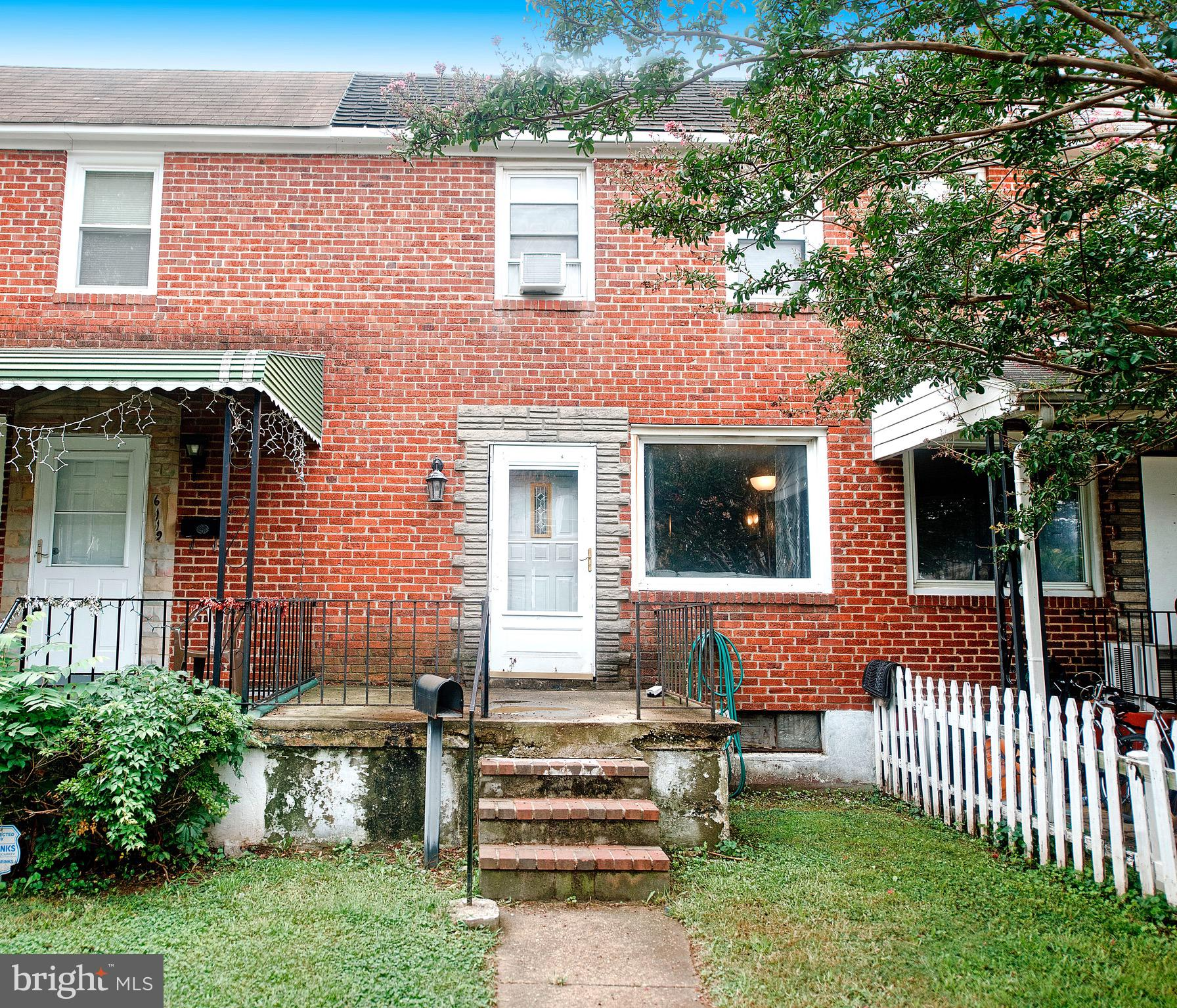 Welcome Home! This home is perfectly located near shops, mass transit and downtown Baltimore. Three bedrooms, 1 1/2 baths. The first floor boasts an oversized living room, dinning room and kitchen. The deck over looks the spacious back yard. Up the stairs are the three generously sized bedrooms and updated bath.  Lower level can easily be used as an in-law suite or separate apartment with kitchenette and half bath. The back yard is fenced and perfect for a dog to stretch their legs. Schedule your showing today before this home is SOLD!