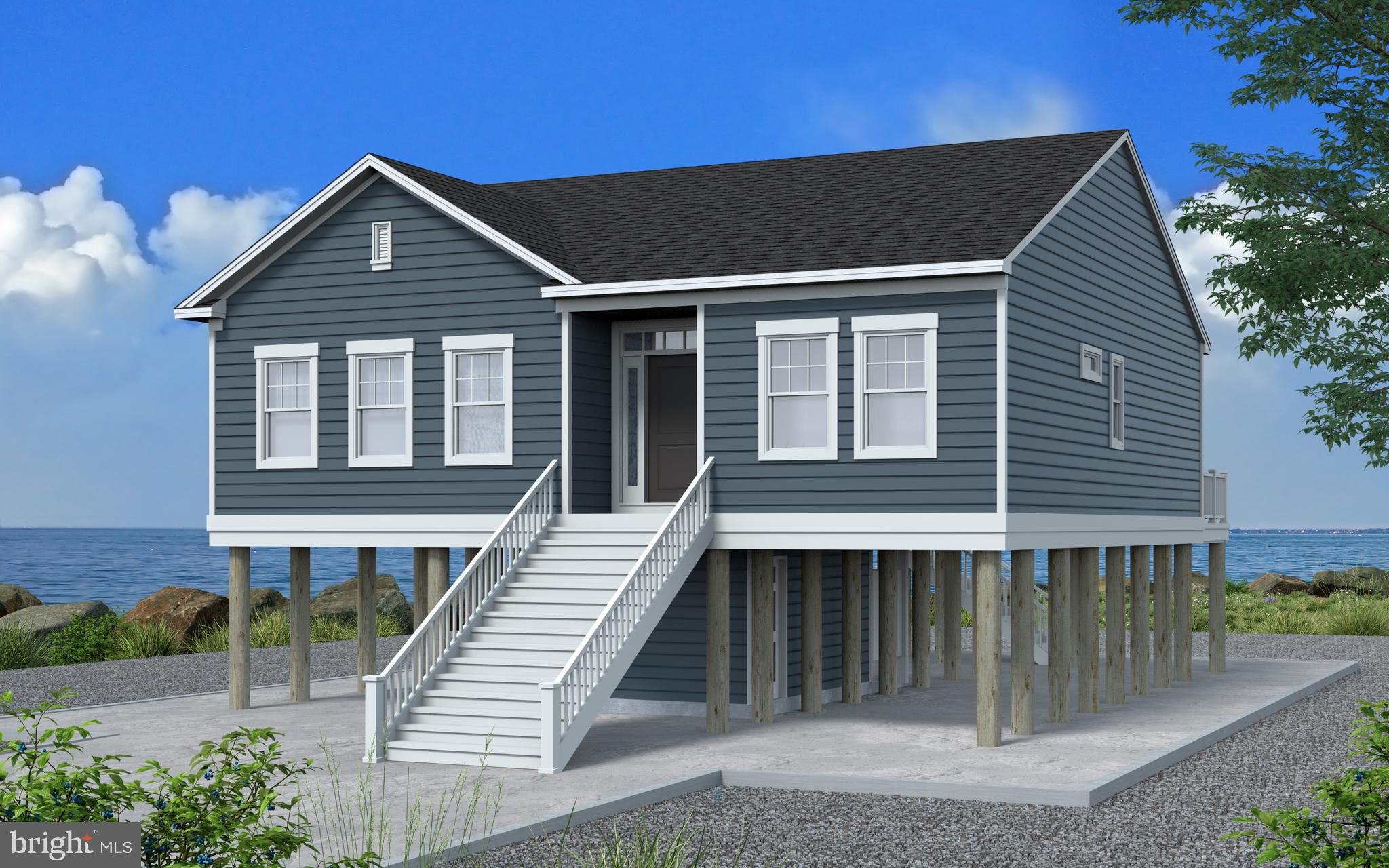 Coastal ll Model offered by Gemcraft Homes. Raised Beach style home offering views of the Chincoteag
