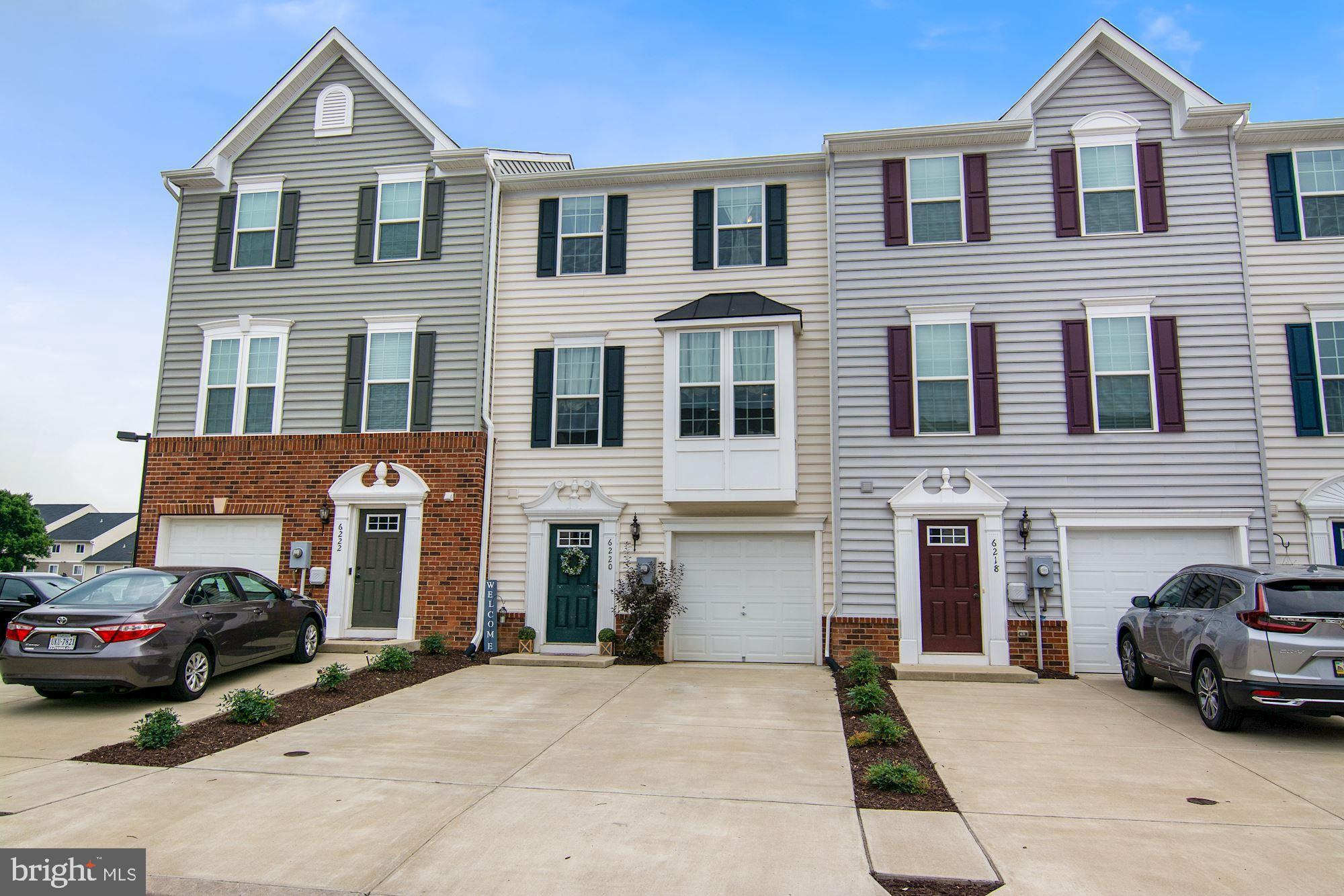 Meticulously maintained 3-level town home in desirable Waverly Station! Practically brand new--built in 2018. All on-trend finishes with an open floor plan and tons of natural light gives this home a comfortable and spacious feel. Featuring 3 bedrooms, 2 full baths, and a 1/2 bath with 1734 square feet of living space. Hardwood flooring and carpet throughout the entire home. Gorgeous dark maple cabinets, large island, and stainless steel appliances make the kitchen a dream! Sliding door in dining area leads to a generous-sized deck for relaxing. The upper level includes a primary bedroom with en suite, 2 more bedrooms, a hall bath, and a convenient upper level laundry. The lower level includes a light filled rec room with a 1/2 bath and access to the 1-car garage as well as to the backyard. Schedule your showing today!
