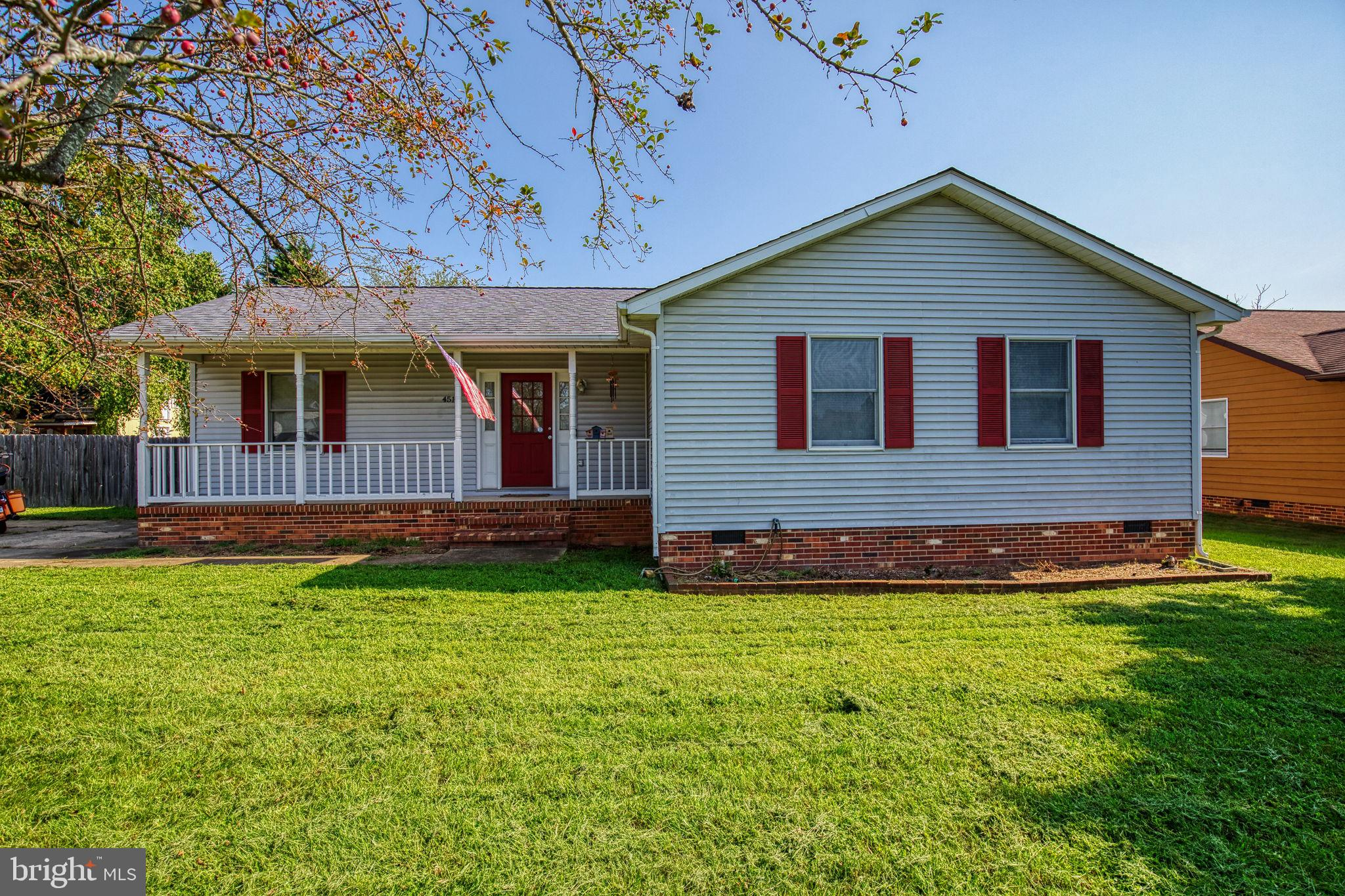 Welcome home! Lovely well maintained home. Looking for one level living? No HOA! Look no further! Enjoy your quiet nights in front of your wood burning fireplace. Sit outside on your deck or front porch for the fall nights. Large flat back yard.  Home is ready for it's new owners!