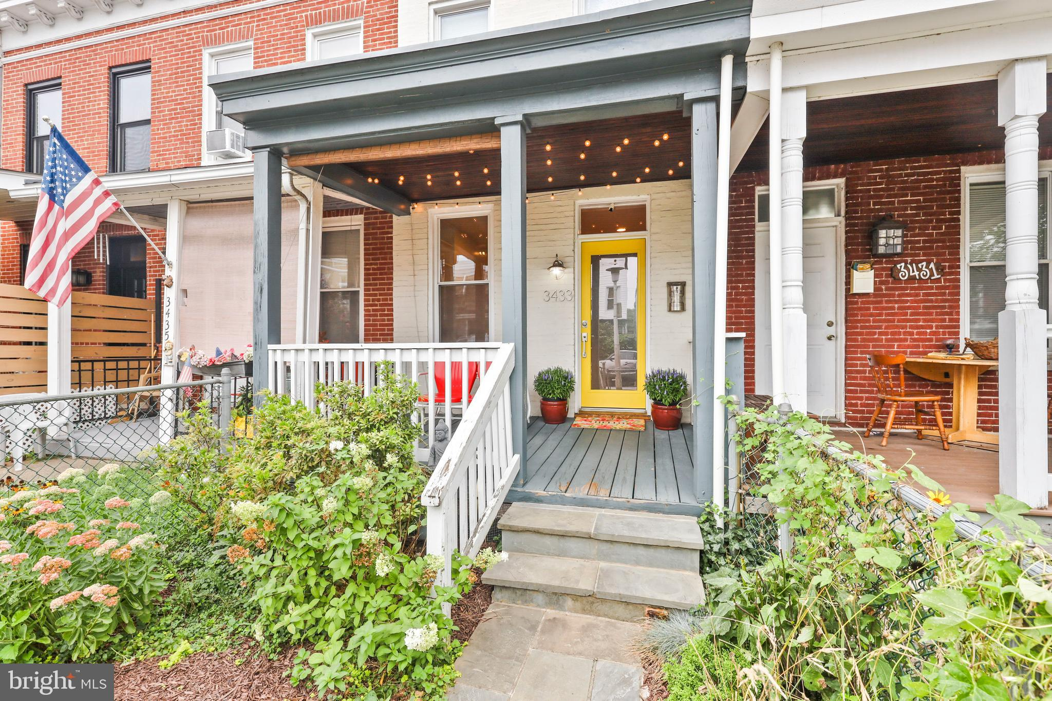 """Location, location, location! This super cute 2BR/1.5BA renovated row home is 1.5 blocks from """"The Ave"""".  Hardwood floors, CAC, adorable front porch and fenced front and rear patio, built in shelving, main level W/D, and separate dining area. Walk to shops, restaurants, nightlife, green space/park, and minutes to i83. Likely qualifies for Hopkins LNYW grant."""
