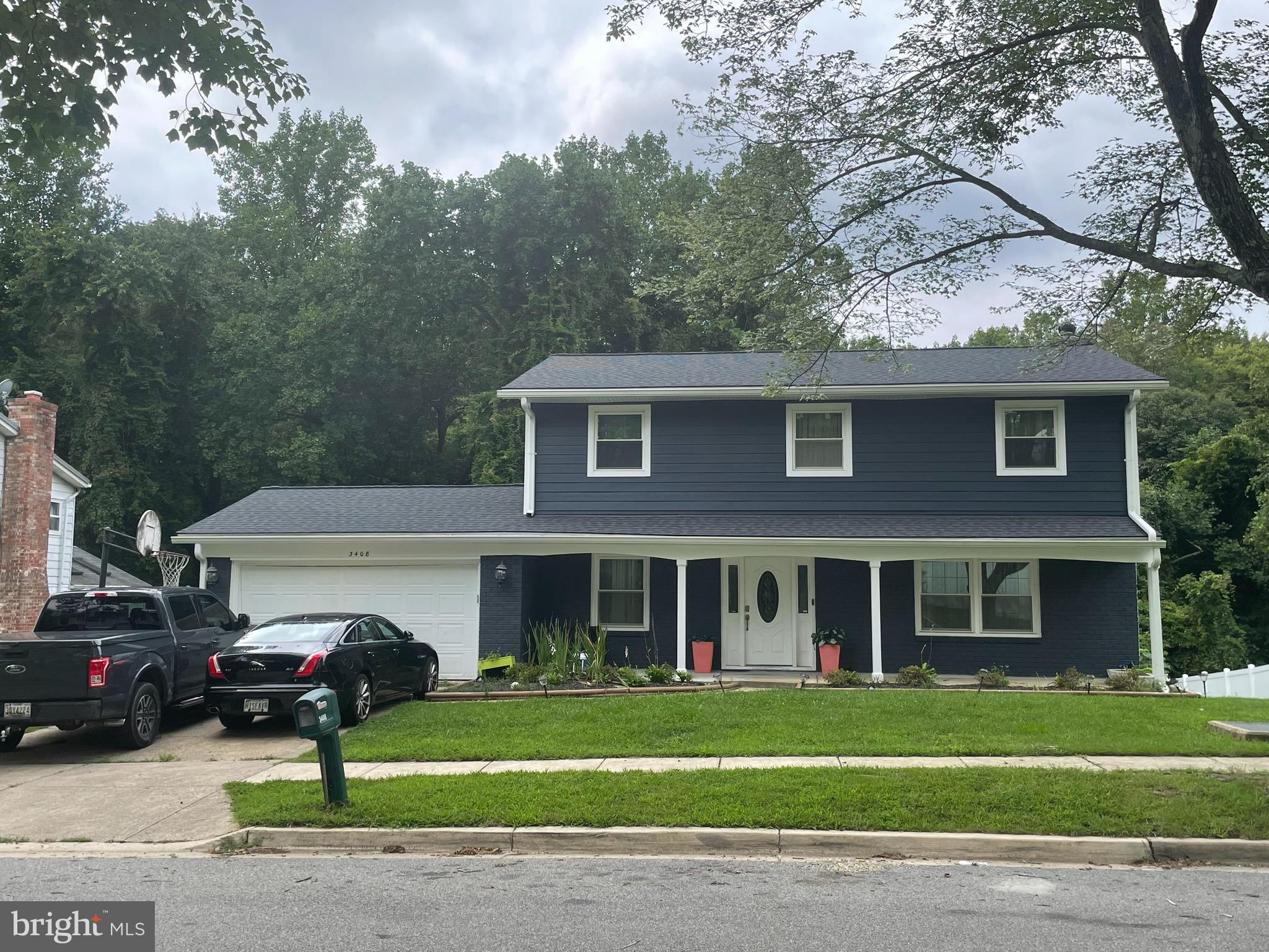 Beautiful home with updated kitchen, bathroom, finished basement, newer roof, and new siding.  Come and see the best looking house in this lovely quiet neighborhood.