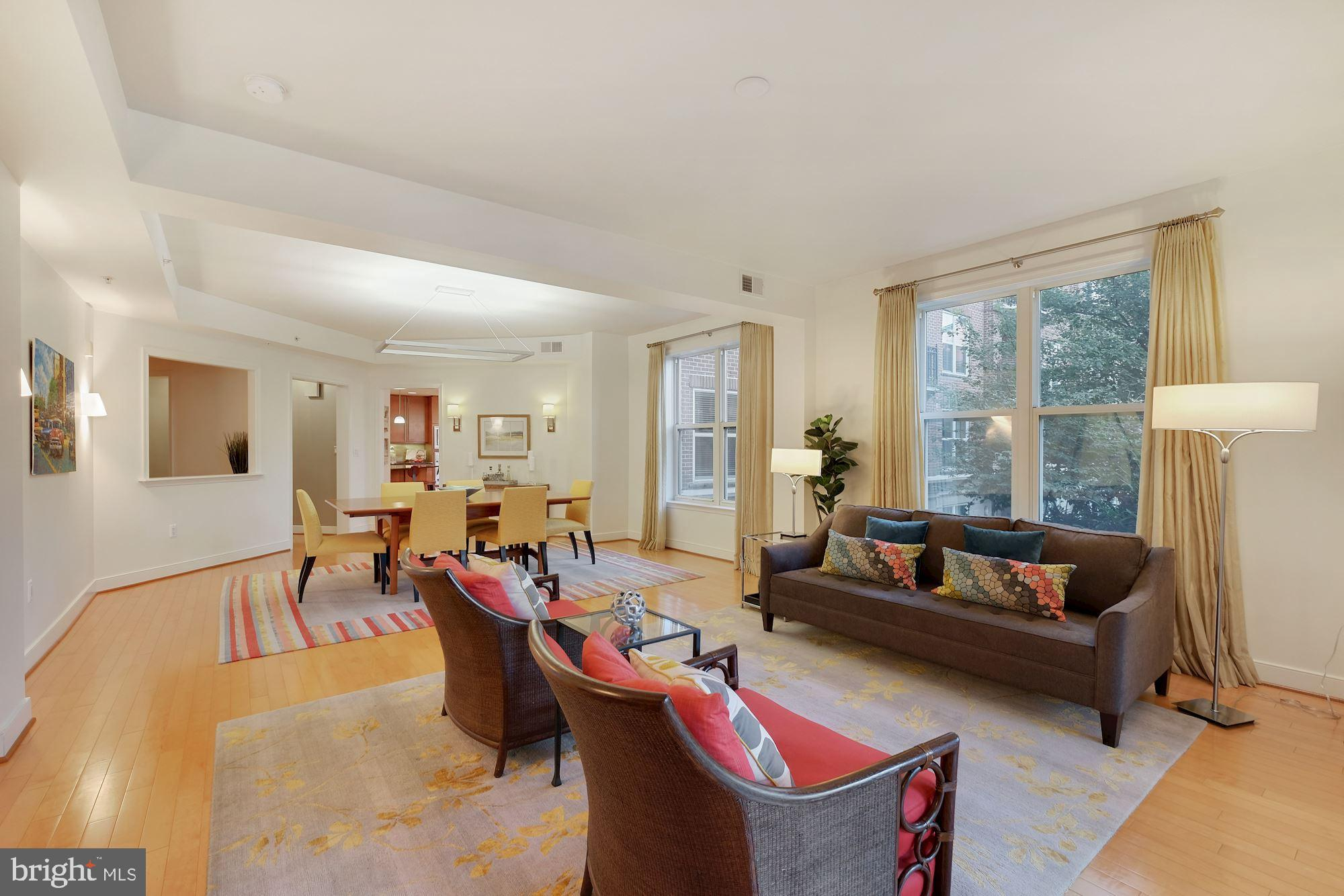 Stunning, expansive corner unit boasts 2193SF inside, that wows from the entry foyer with three clos