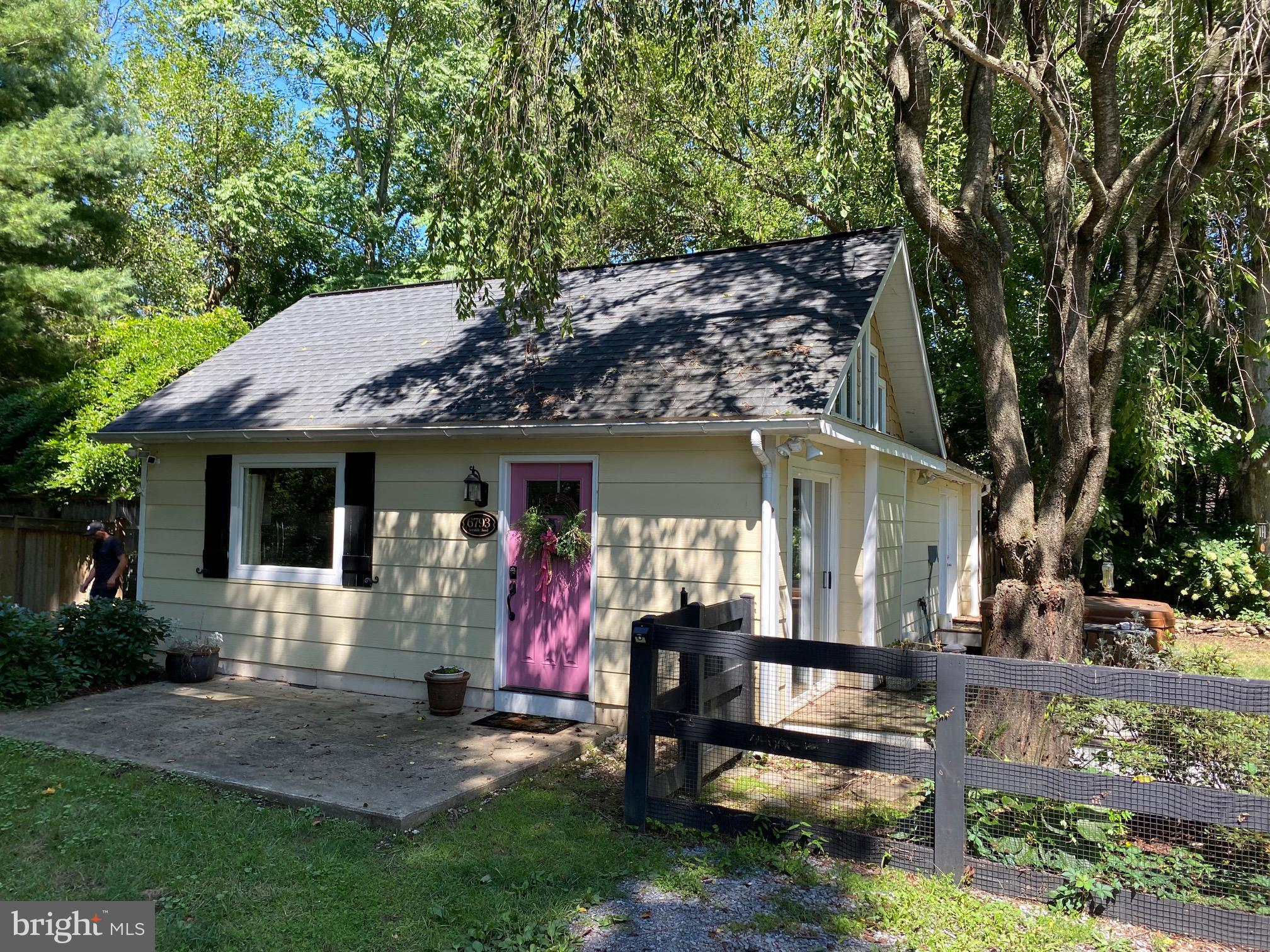 6793 Scrabble Road:  Nestled on a 1.28 partially wooded lot along Scrabble Road, this quaint 2BR, 1B