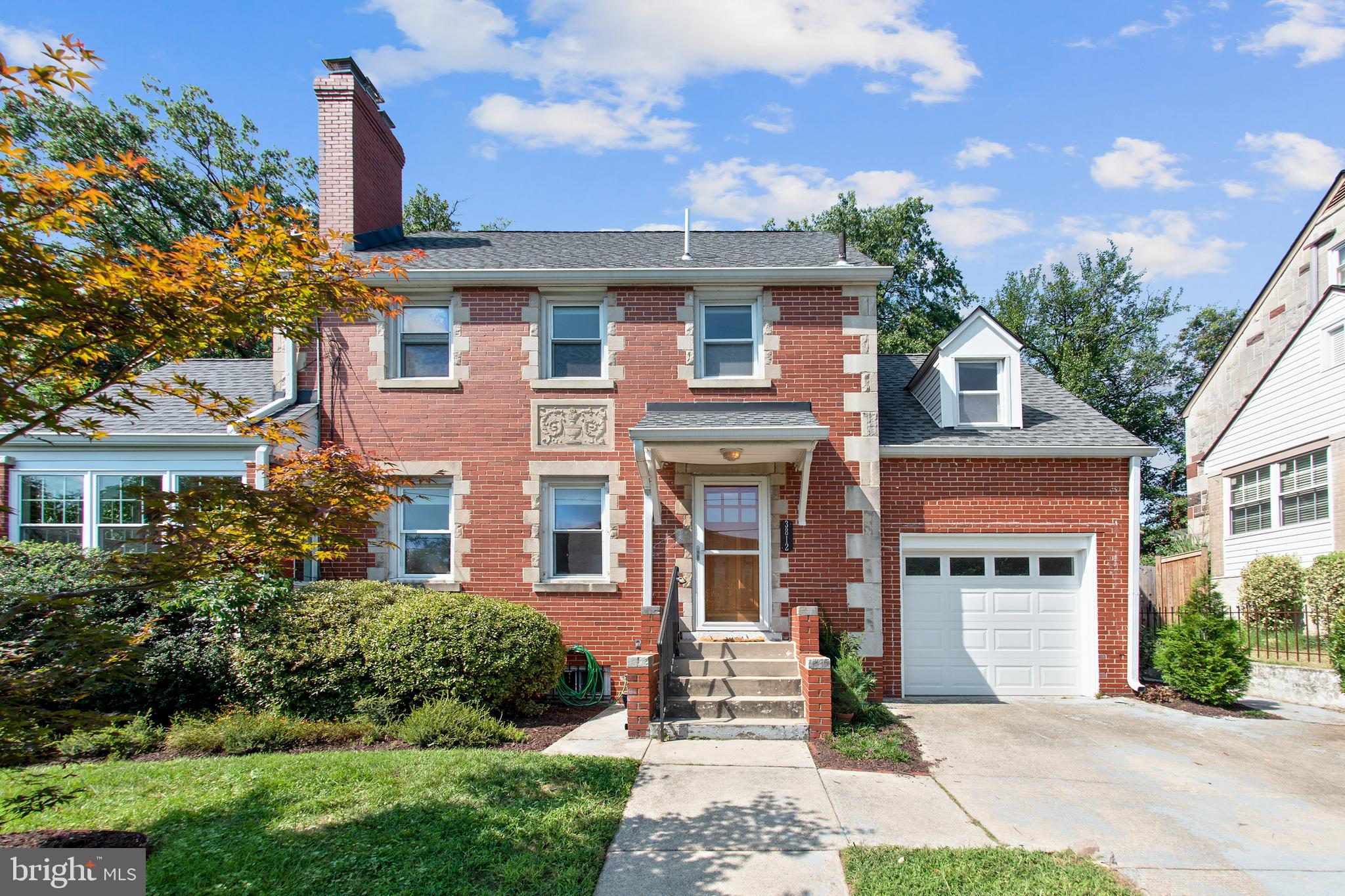 Step inside this 4BD/2.5BA red-brick beauty in the heart of Brookland! Main level includes a renovated side porch that's the perfect office or greenhouse, and open renovated kitchen with breakfast bar. There's a master bedroom with gorgeous en-suite bathroom on the upper level, as well as a bedroom up in the finished attic. Basement includes an entertainment room (with fireplace), laundry, and storage. Fenced-in backyard perfect for al-fresco entertaining or relaxing. Enjoy a casual walk to the Red Line, or drive and park in your own 1-car garage. Come check out this charmer! <b>OPEN HOUSE SUN 1-4</b>