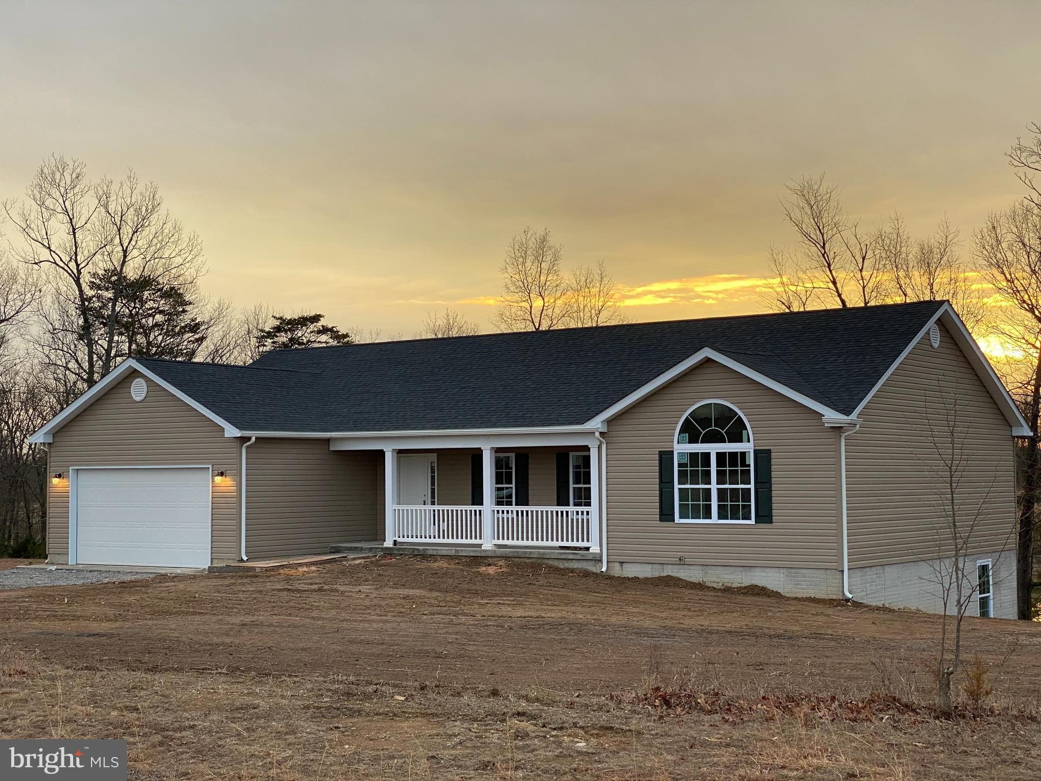 Under construction -New Ranch Home - 5 acres unrestricted. Offers 3 bedrooms, 2 full baths- 5 Acres.