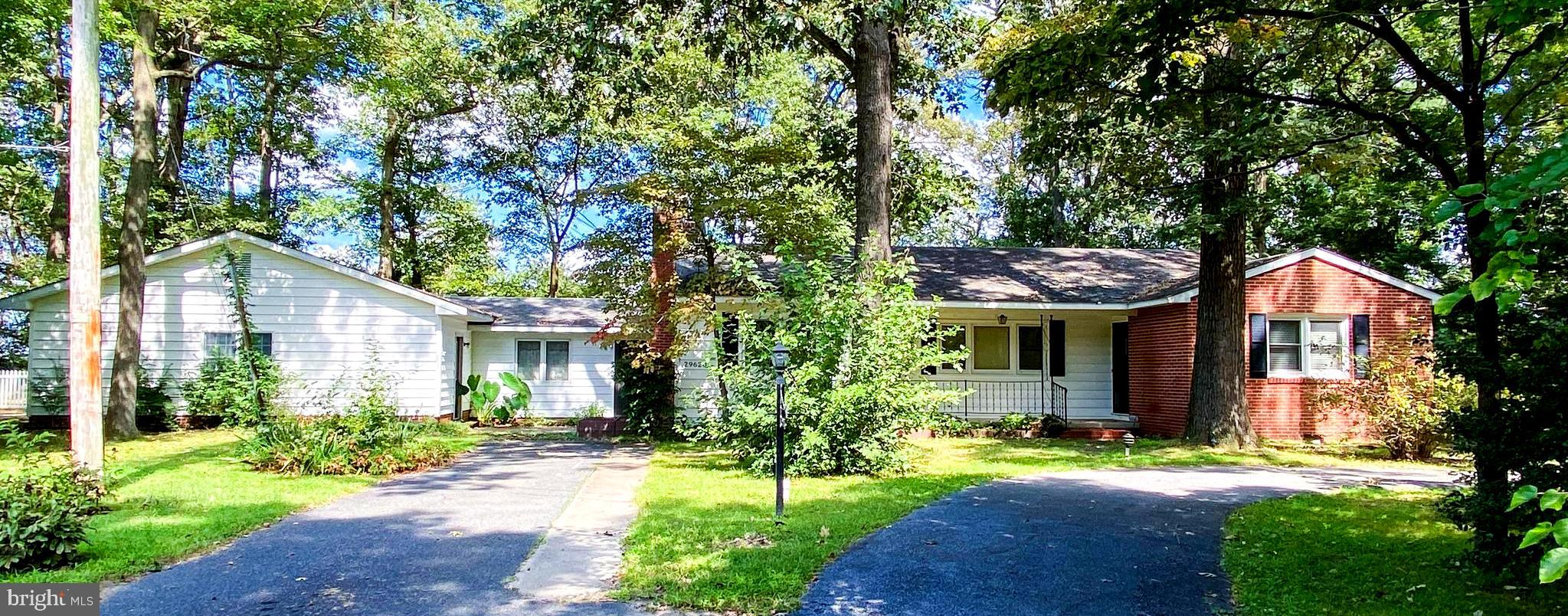 Spacious 3 BR 1.5 BA ranch home on a private double lot just outside of Delmar. Hardwood flooring th