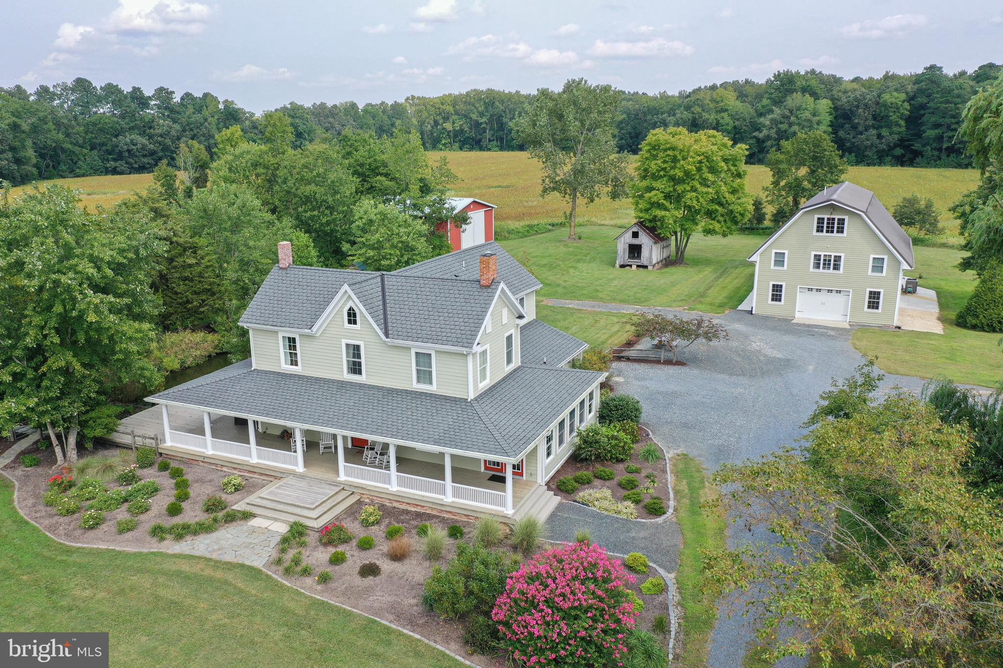 Absolutely Exceptional 36+ acre Estate – Completely Rehabbed 3BR/3BA Farmhouse; Renovated barn w/2BR