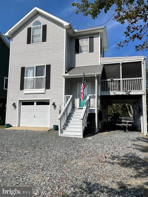 Coastal style beach house with exciting views of the Bay and the Ocean City skyline!!! Well maintain