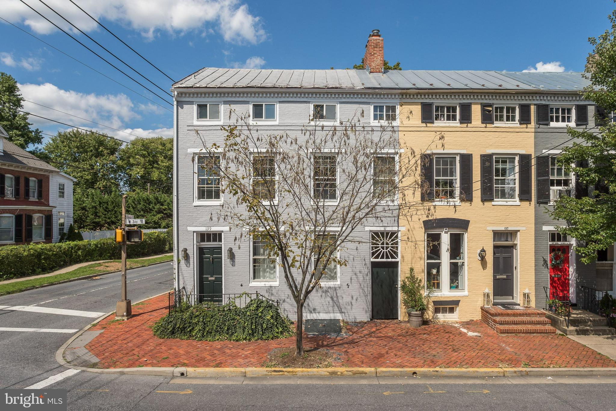Remarkable 2 unit brick property located in downtown Frederick boasting historic charm and some mode