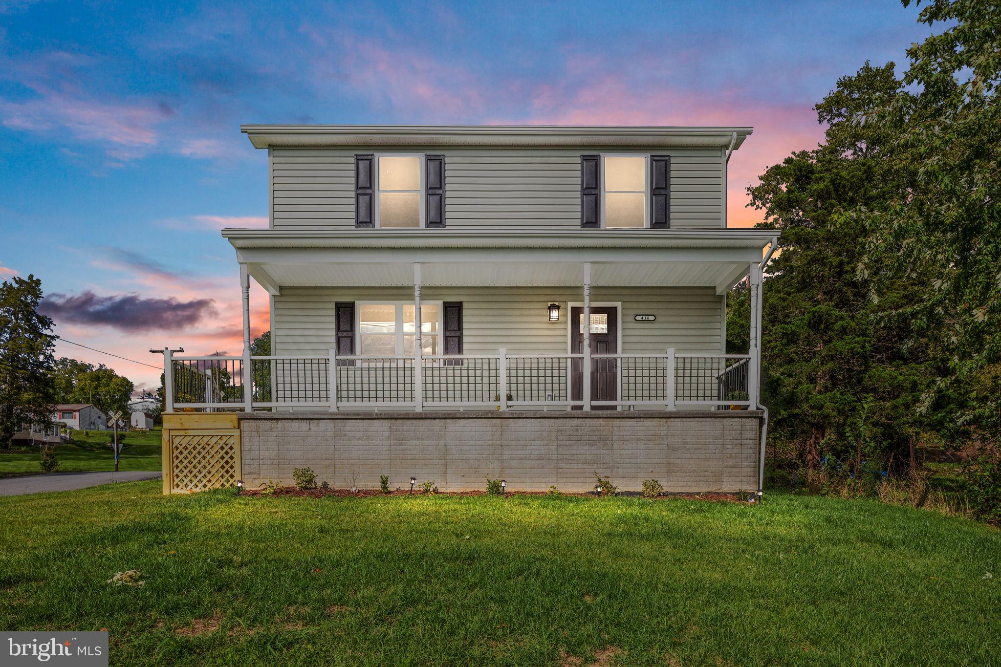 BRAND NEW HOUSE in Strasburg for sale!  Come check out this 3 bedroom, 2 1/2 bathroom Colonial on a nice corner lot.  This one is available to move in as soon as possible.  A large Trex front porch, patio area in the back and landscaping with landscaping lights for exterior appeal.   Inside you will find a spacious kitchen, dining room, living room, laundry room and half bath all with vinyl plank flooring and a carpeted living room.  The kitchen features stainless steel appliances, eat-in area, ceiling fan and a pantry.  Upstairs you will find 2 bedrooms,  full bathroom and a primary suite with a private bathroom and walk-in closet.  Close to downtown shopping, antiques, brewery, and restaurants and minutes to Interstates 81 and 66.  Call me today to get in to view this one!