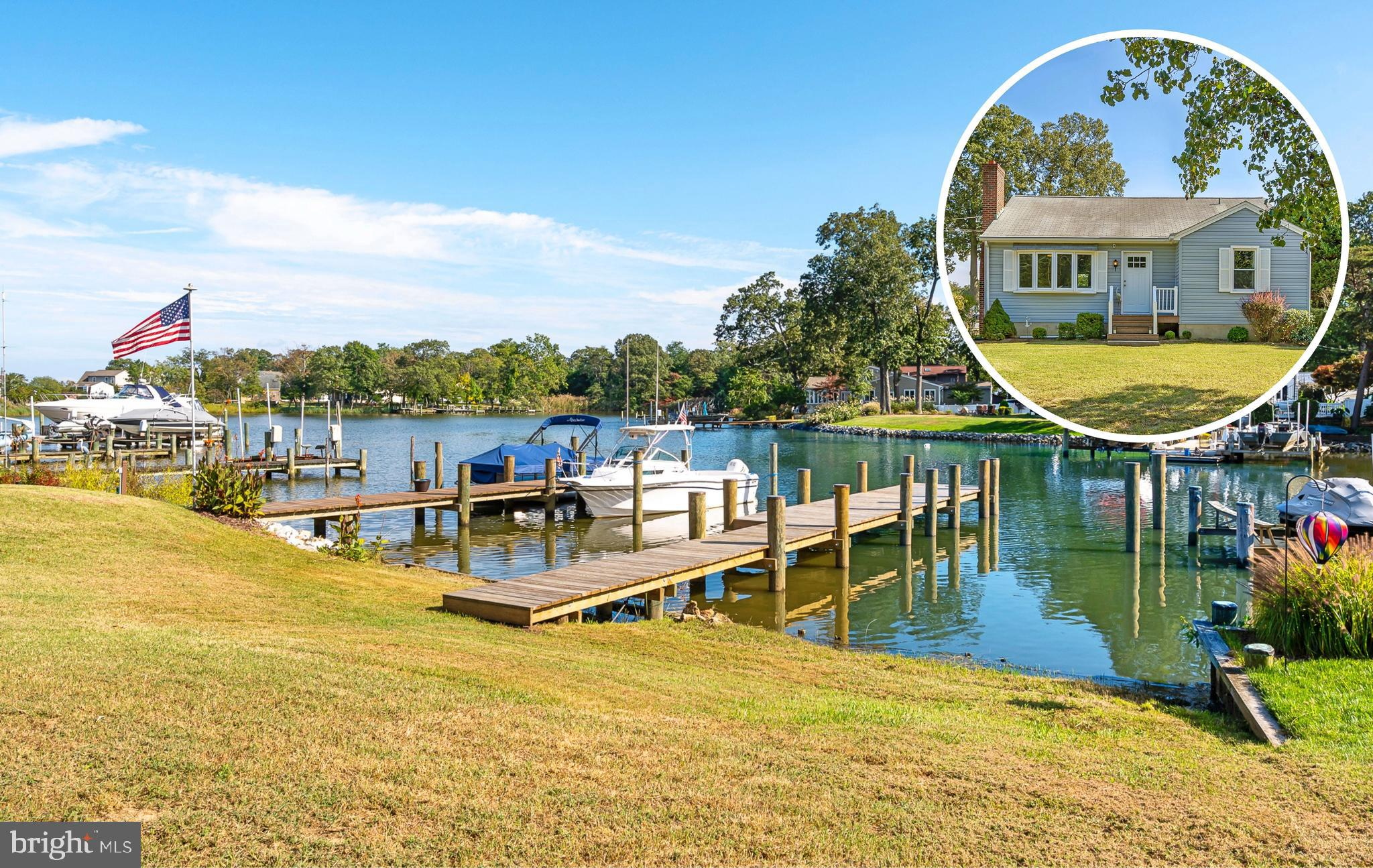 Amazing Waterfront property in the sought-after community of Shore Acres. Tranquil water views are offered from both the front and rear of the home. Enjoy the ease of convenient no-hassle water access to Gibson Island and the Bay Bridge. Keep your boat in one of two slips located on your private pier. There is also a community boat ramp. After a long day of boating, relax or entertain in your beautifully renovated 3 Bedroom 2 Full Bath home. The updated Primary Bedroom is your own personal retreat after a long day of fun in the sun. The remodeled Kitchen makes entertaining a delight with updated appliances and ample storage. No need to worry about trying to get sand and dirt off your carpets, hardwood floors offer beauty and help make cleaning less burdensome. No need to sweat the small stuff thanks to the updated HVAC system. Other updates include a new Septic System that was updated in 2021. Envision yourself living in your own personal retreat. Book your appointment today!