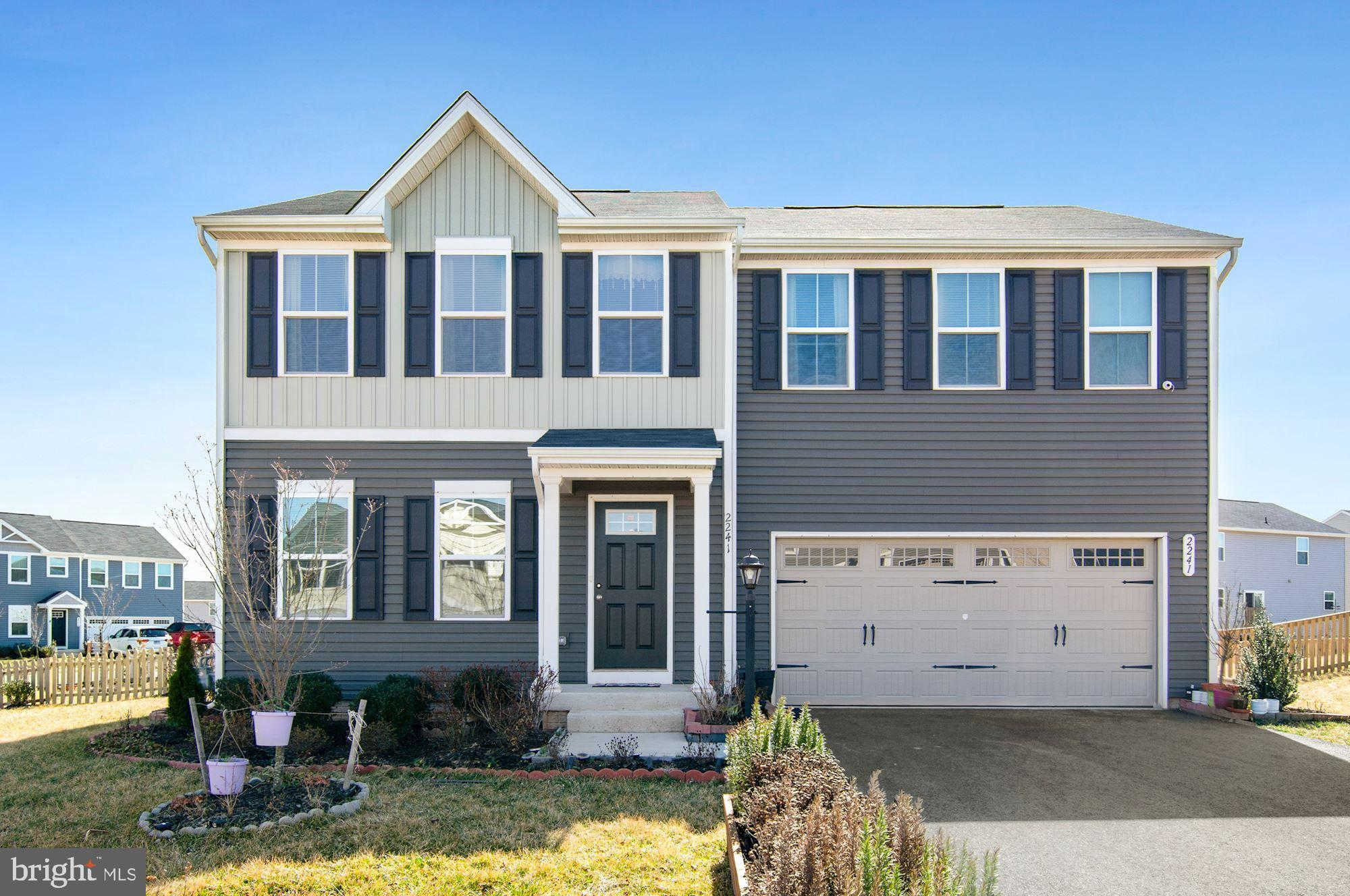 Welcome home to this amazing single family in Highpoint of Culpeper.  This home is on one of the largest corner lots in the community.  As you enter the home you will notice the amazing Open floor plan.  The main level provides a spacious family room, gormet kitchen with, formal dining room, and main level office.  Travel up the stairs to the primary bedroom with walk in closets and attached beautiful primary bathroom.  This floor is rounded off with 3 additional bedrooms, another full bathroom and bedroom level laundry.  The basement is ready for your finishes, with space for rec room and bathroom.  The rear of the home is fully fenced with a large deck spanning the back of the home.