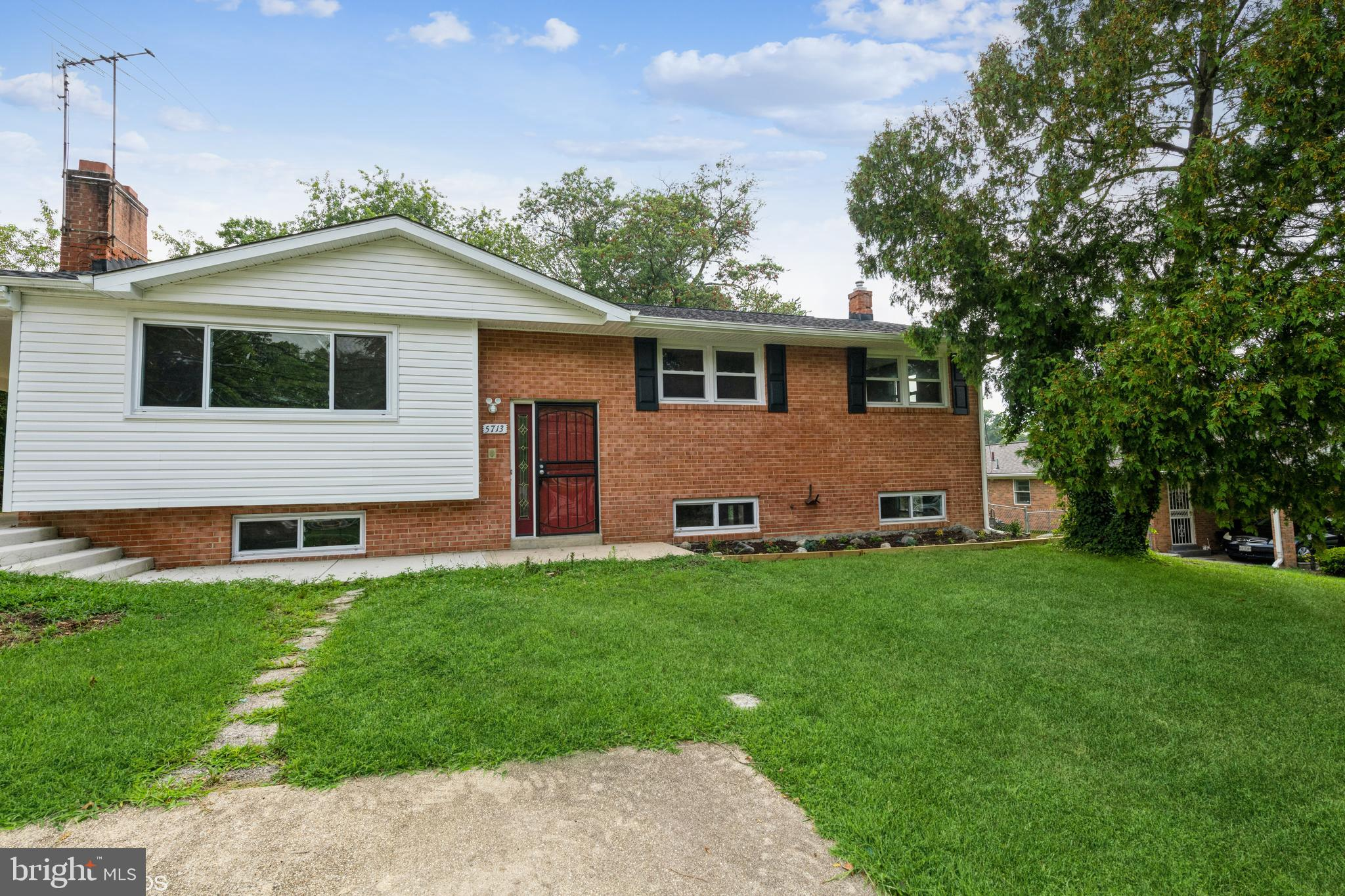 The property is an all Brick split foyer with 2 fireplaces 3 bedrooms, 2.5 bathrooms and unfinished