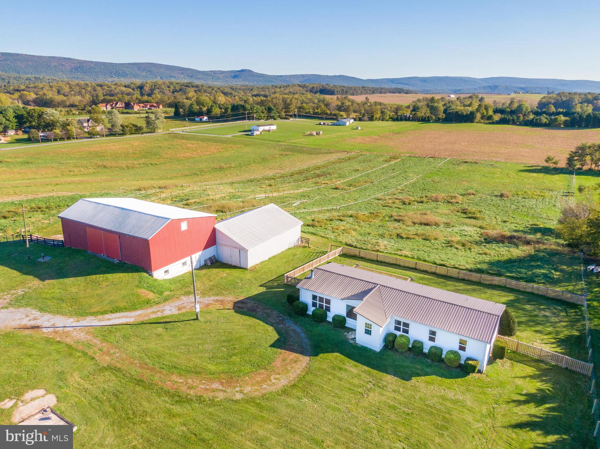 Bring the horses to this breath-taking 17 acre property with mountain views just off Kabletown Road!