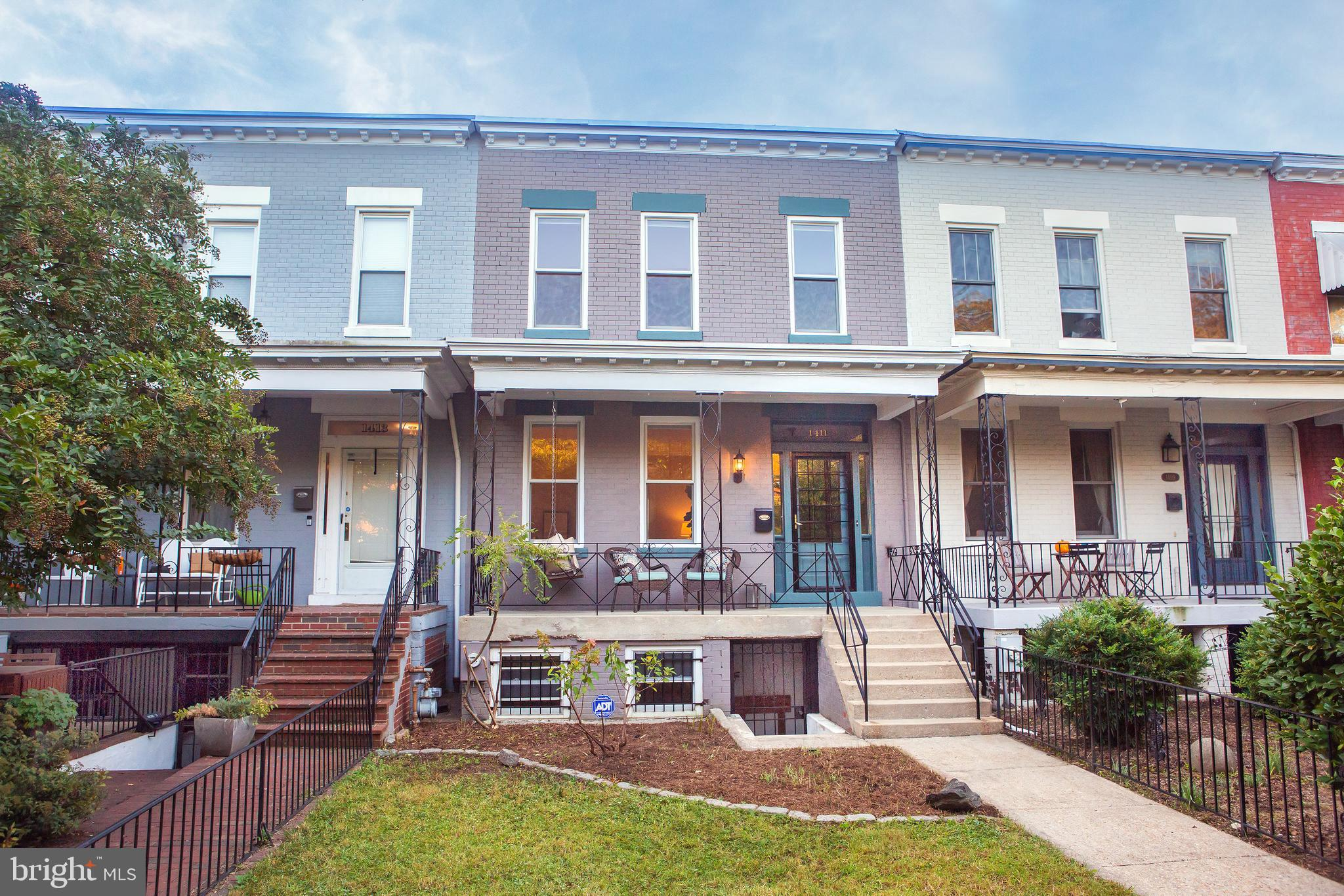 SPECTACULARLY SUNNY, SPACIOUS & WIDE PORCHFRONT HOME with Great Outdoor Space and Large Garage Steps from Lincoln Park and Eastern Market Offers a Wonderful Blend of Original Features and Modern Amenities in an Amazing Capitol HILL Location!  Finished on all Three Levels, Separate Living and Dining Rooms with High Ceilings, Crown Molding and Heart Pine Flooring, a Large Gourmet Kitchen with Hardwood Cabinets, Stainless Steel Appliances and Stone Countertops! Three Bedrooms and Fully Appointed Bathroom Upstairs, Finished Connected Basement with Front and Rear Entrances, a Recreation Room and a Full Bath, plus Spacious Storage, and Front-Loading Laundry Downstairs! Many Original Features Throughout Include Original Woodwork and Flooring, Transom Windows, Smart Upgrades Including Double Pane Windows, Central Air Conditioning, Hot Water Radiator Heat, and More!  All on a Large Lot with a Deep Fully Fenced Front Yard, Full Width Porch with Swing, and Fully Fenced Backyard for Festive Picnic Dinners on the Spacious Private Patio!  First Opens Saturday & Sunday 1-3PM!