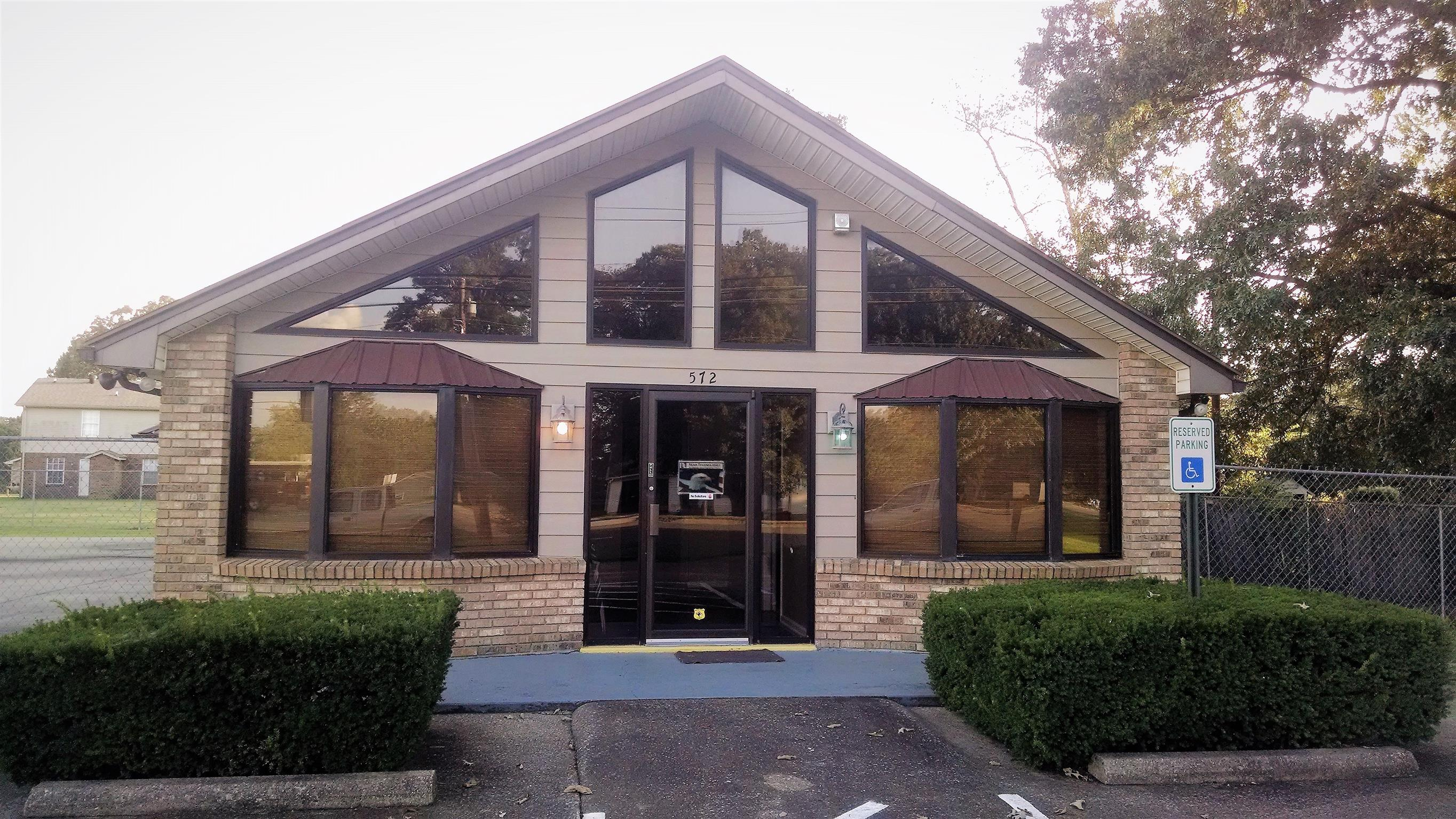 Excellent quality renovated office building in high traffic area. Space includes 6 large offices, 1 conference room, 1 very large class/conference room, plenty of storage, 2 bathrooms, 1 shower, kitchenette and break area, & large fenced in concrete patio and grassy area. Wired for HDMI ethernet and ready to occupy!