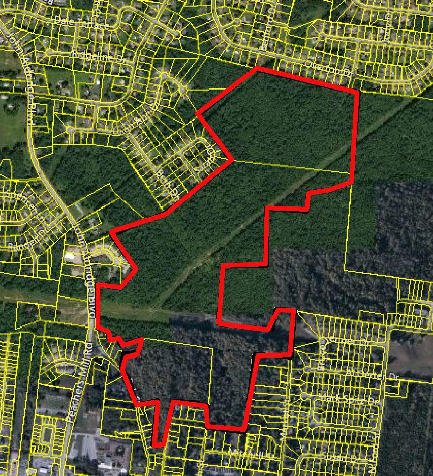 3 ADJOINING TRACTS WITH TOTAL 175 ACRES/MOSTLY AG ZONING WITH SOME R-3/SOME DEVELOPMENT POTENTIAL/ALSO BOW-HUNTING IS LEGAL - LOTS OF DEER/TIMBER VALUE UNDETERMINED AS OF LISTING/MULTIPLE ACCESS POINTS/NORMAL UTILITIES MAY BE ACCESSED
