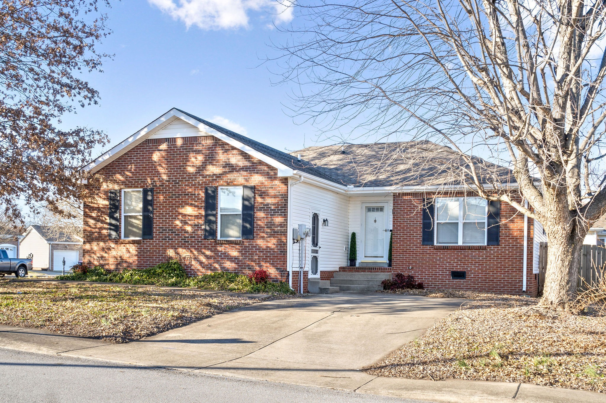 Check Out This Adorable Ranch Home on a Corner Lot Conveniently Located to Close to Ft Campbell - NEW Carpet - NEW Vinyl in Bathrooms, Laundry Room, and Kitchen -  NEW Paint - NEW Refrigerator - MUST SEE! Don't Wait,This One Will Go QUICK!