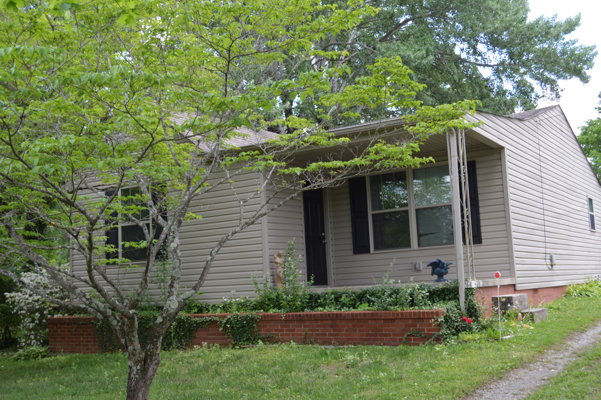 RENOVATED 2 BEDROOM - 1 BATH HOUSE ON DOUBLE LOT.  ZONED R-3. HOUSE WAS GUTTED IN 2015 WITH NEW WIRING, PLUMBING, SHEETROCK, INSULATION, HVAC, WINDOWS, SIDING, ETC.  FLOORS ARE HARDWOOD. BOTH FRONT AND REAR DRIVEWAY ENTRANCES. MATURE TREES ON SIDE LOT.