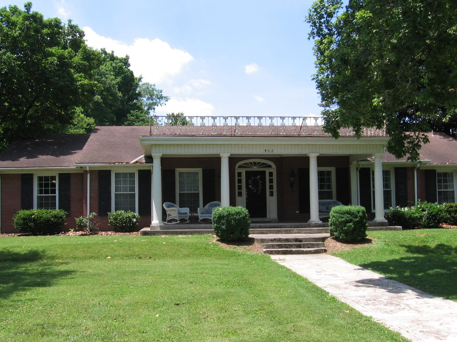 Charming southern home in beautiful Todd County, KY,  This home is updated & move-in ready  Kitchen has been remodeled!  The new owners will have the main house & the guest house.  Main house has 4 large Bedrooms, Living Rm, Den, Din Rm, spacious Kit, Office, & 2 Baths!  Guest house has 920 square feet of living space.   Great for in-laws, guests, or rent it out.