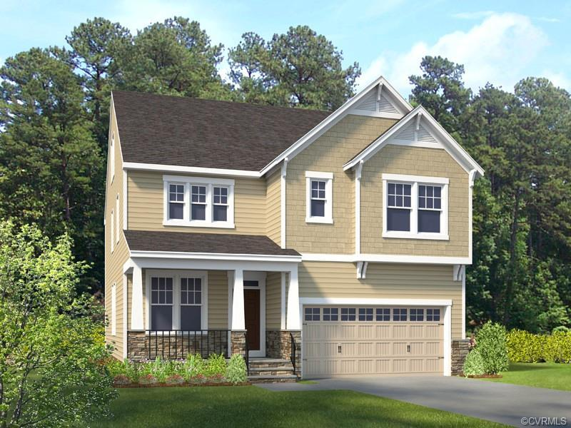 HOME IS NOT BUILT. This smart home boasts an open floorplan that opens to a living room & dining are