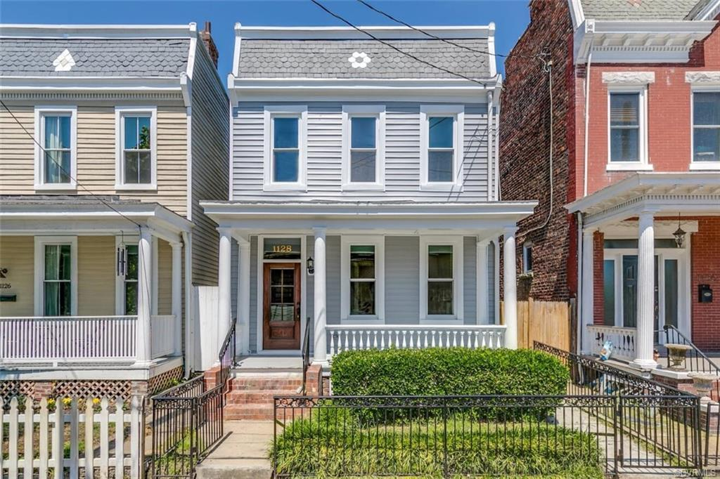 Stunning renovation in Church Hill! 1920s home with a mix of 2020. As you walk up to 1128 you will f
