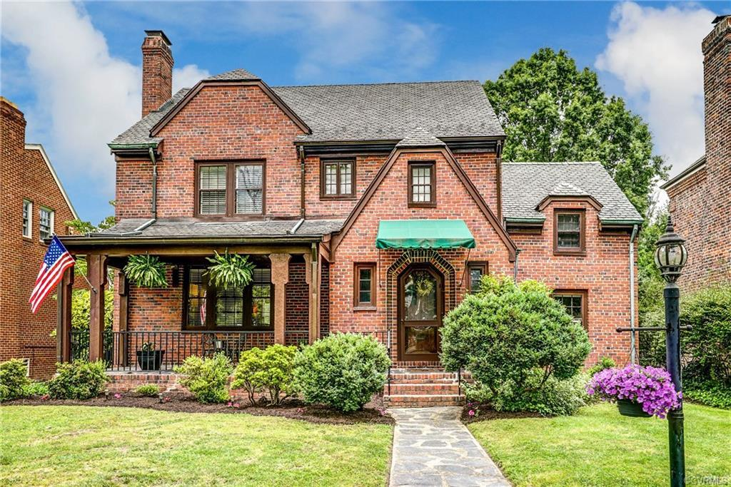 Charming Tudor situated on a Wonderful Block of Historic Monument Avenue. Relax on Your Front Porch