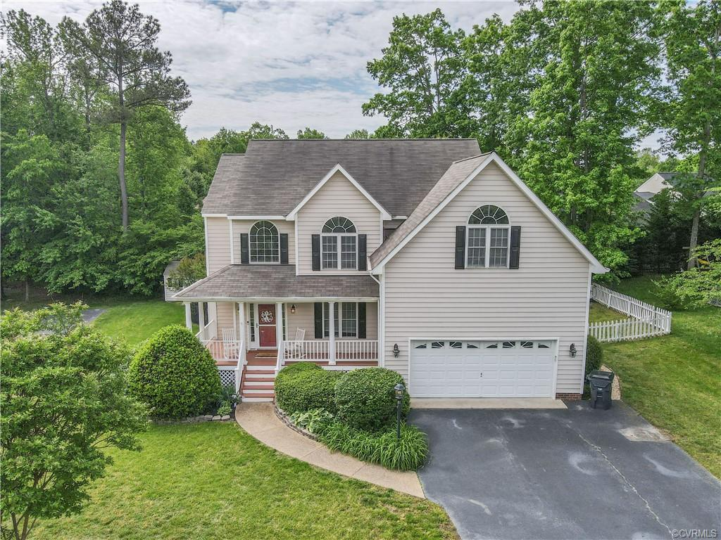 Welcome to 12713 Forest Mill! You will just love this well maintained 4 Bedroom and 2.5 Bathroom Colonial in a quiet cul-de-sac! The open concept will immediately greet you and make you feel invited! On the first floor you will find your formal dining/Flex space, Living room with gas fireplace, open kitchen with Granite countertops, the half bath, Pantry, laundry room and freshly refinished hardwood throughout the first floor of the home. The back deck will take you right to your own private oasis, come enjoy your own in ground pool right in time for summer!! On the second floor you will find your spacious bedrooms and additional bathrooms. The primary room's vaulted ceilings add additional comfort and space; the ensuite is complete with a double vanity, a stand up shower and a jetted bathtub. Take a look for yourself and call this beautiful home your own this summer!