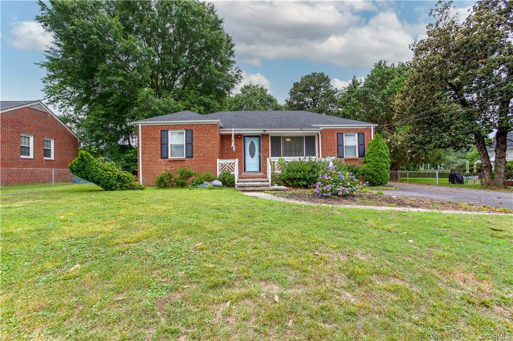 Adorable three bedroom brick one level home with an Owner's Suite.  This home was recently renovated