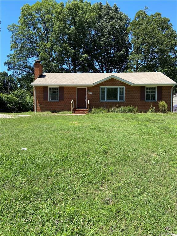 All brick ranch with  3 bedrooms, 1.5 baths, Hardwood floors in all 3 bedrooms, living room and the
