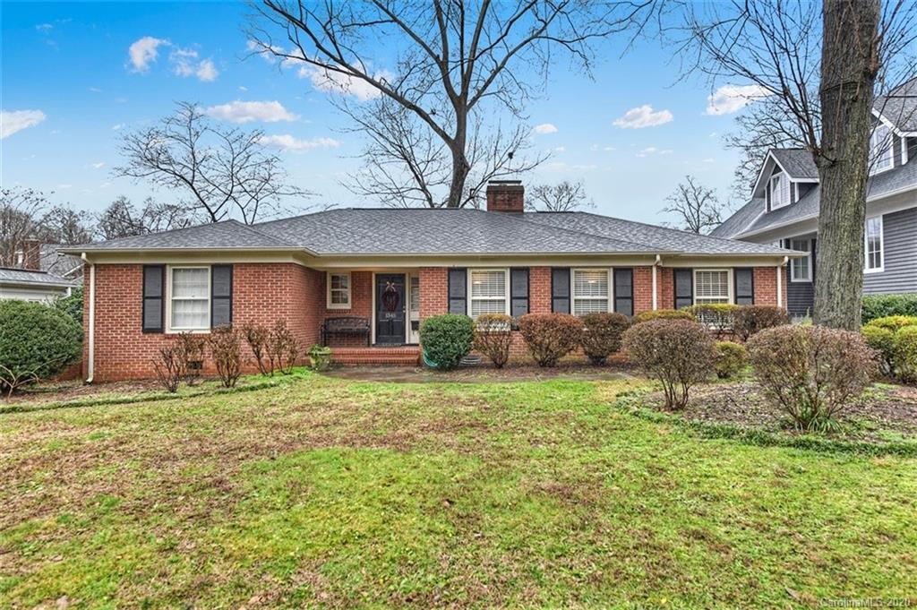 Traditional ranch located in the heart of Myers Park within walking distance to Freedom Park, shops
