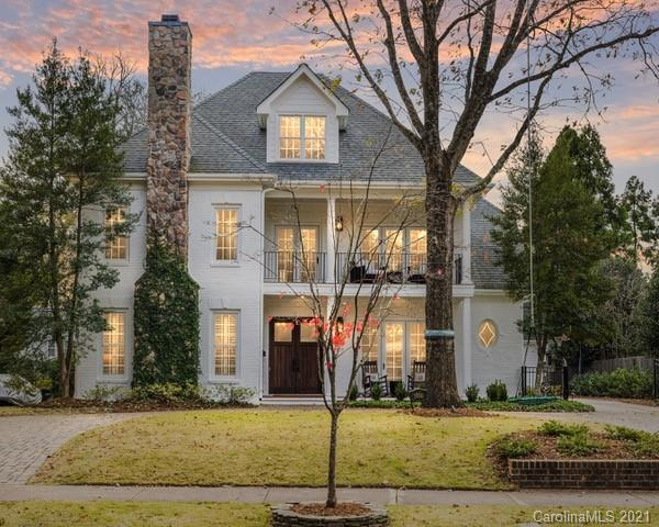 Simply stunning painted brick home on Myers Park's sought-after Maryland Avenue. Gorgeously designed